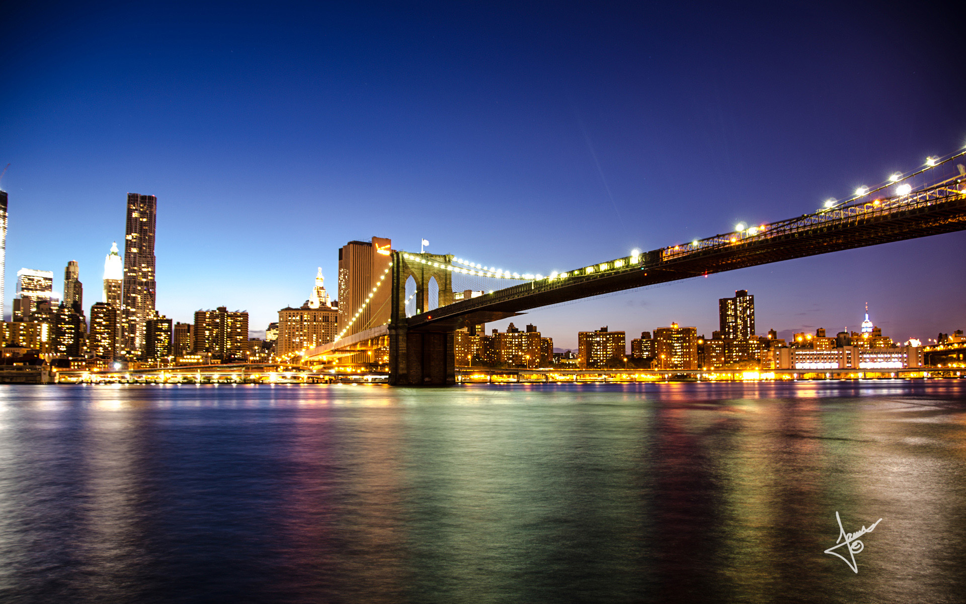 Brooklyn Bridge New York Hd Wallpaper