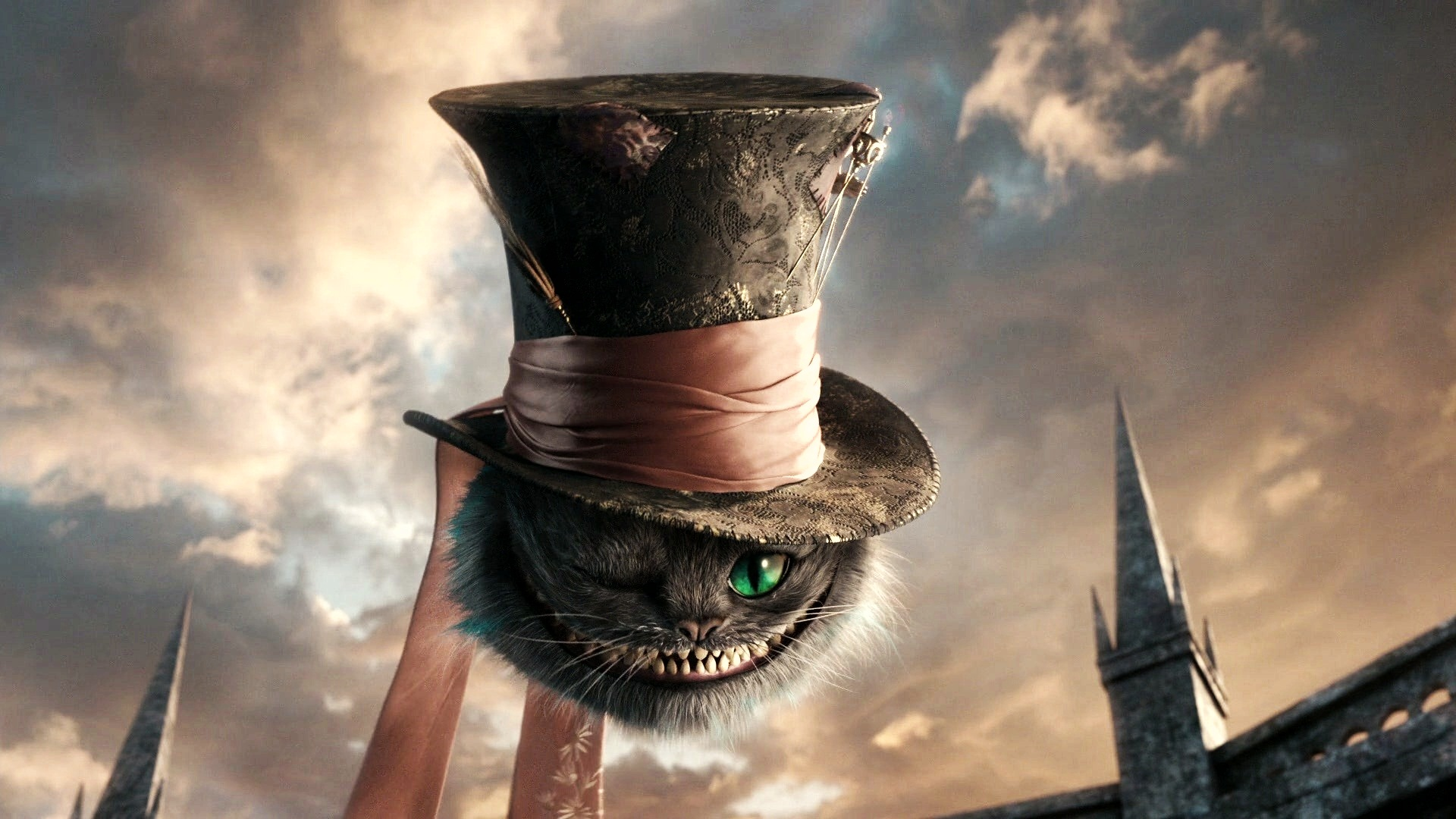 Cat In Alice In Wonderland Hd Wallpaper