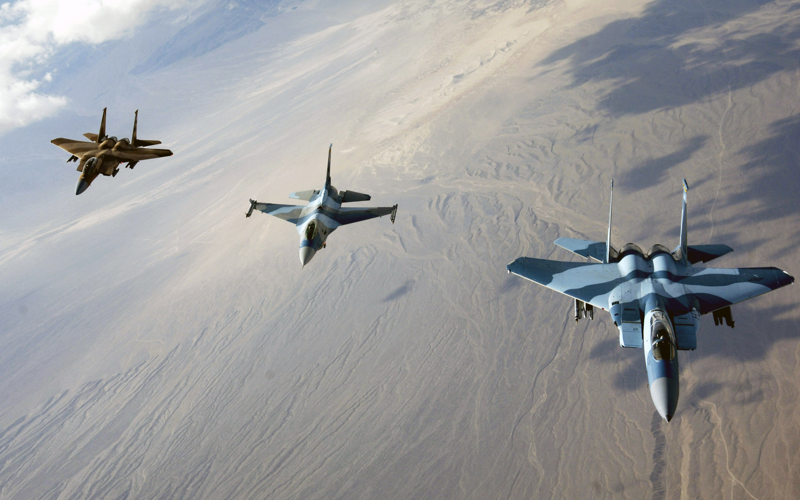 F Eagles and F Fighting Falcon wallpaper