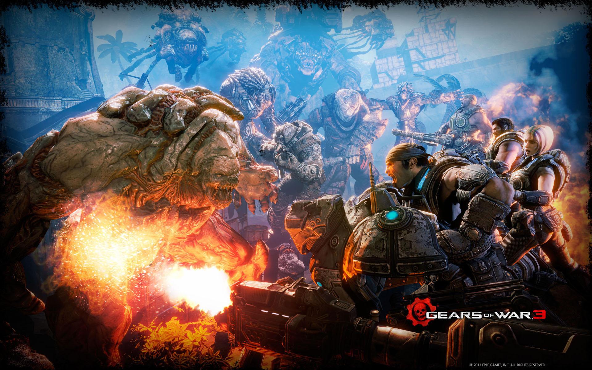 Gears Of War Battle Hd Wallpaper