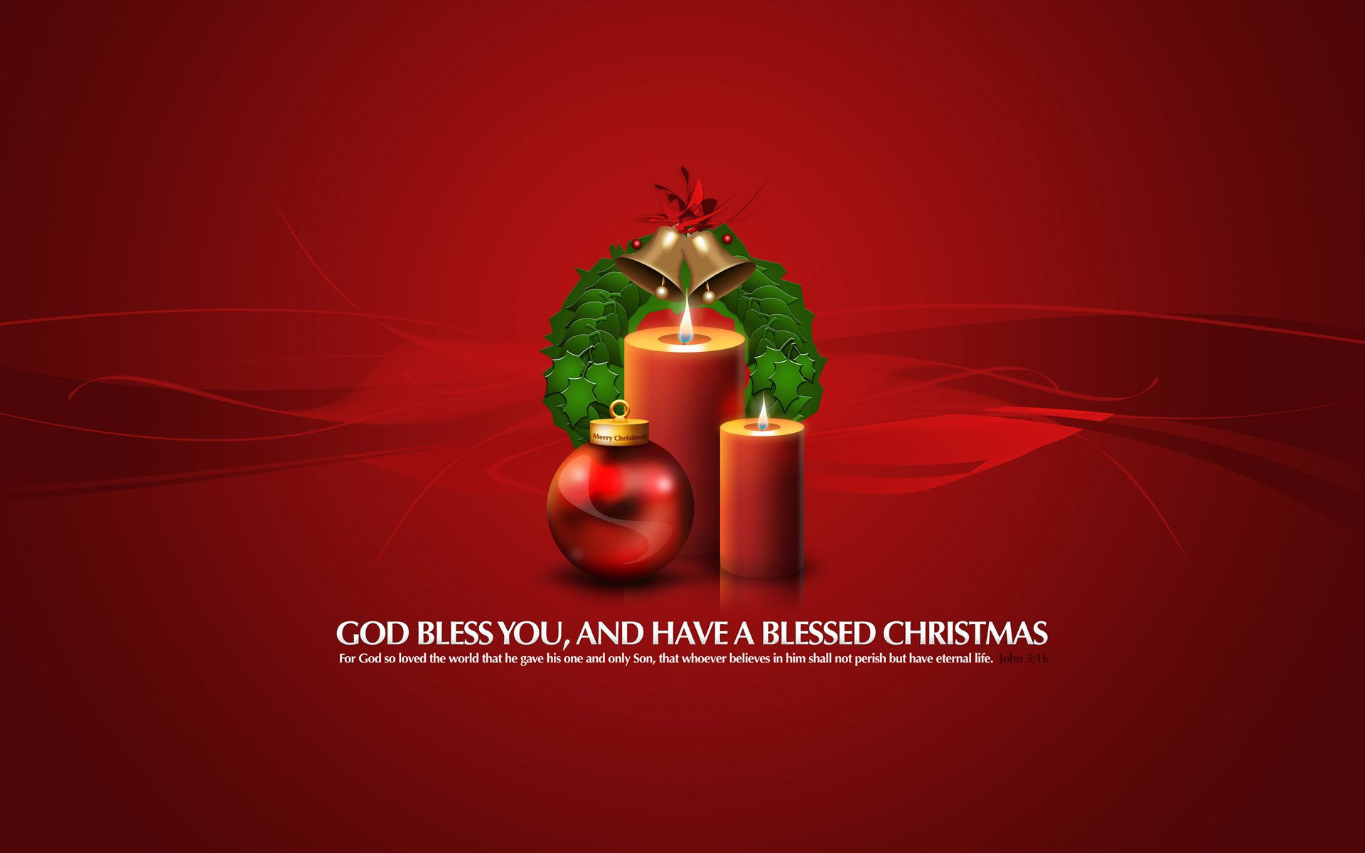 God Bless You Christmas Gifts wallpaper