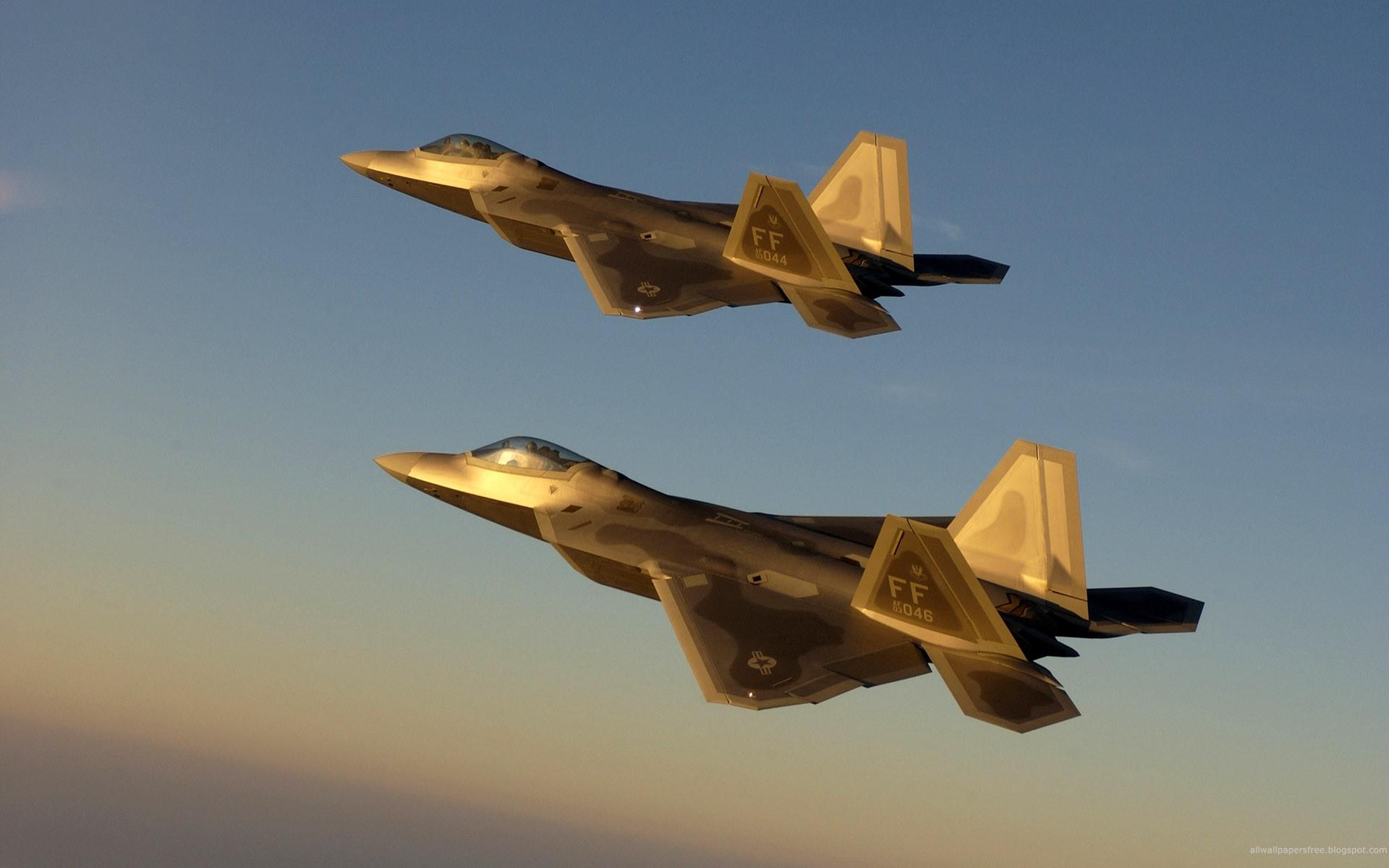 Golden Jet Fighter Planes Hd Wallpaper