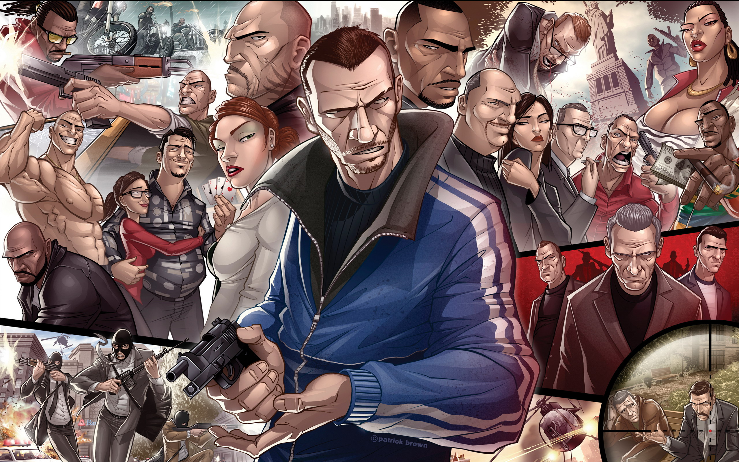 Grand Theft Auto IV Characters wallpaper