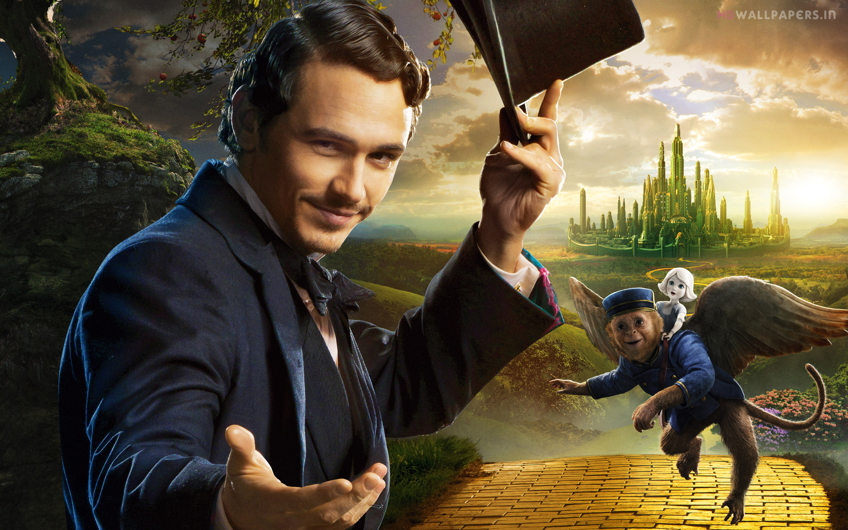 James Franco Oz The Great And Powerful Hd Wallpaper