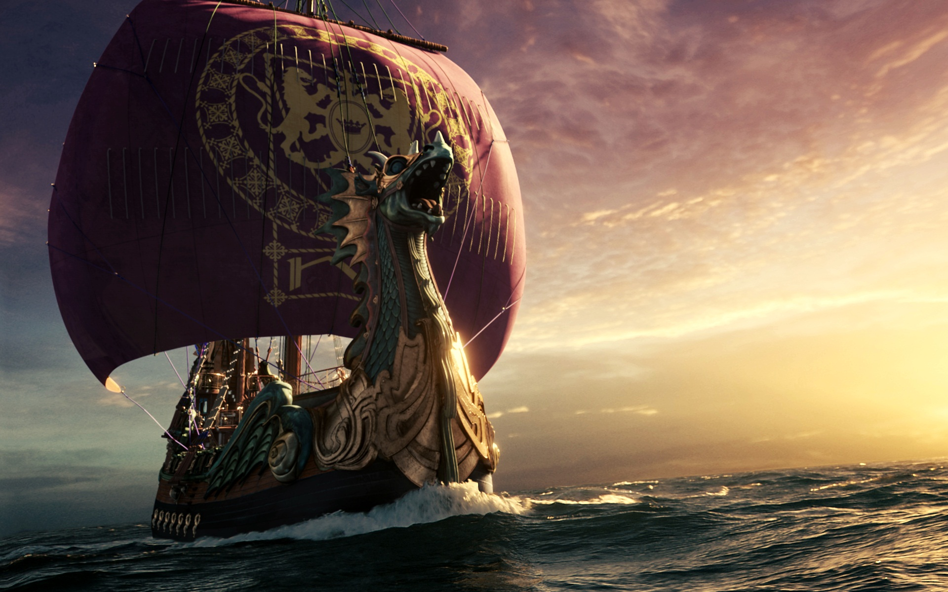 Narnia Dawn Treader Ship Wallpaper