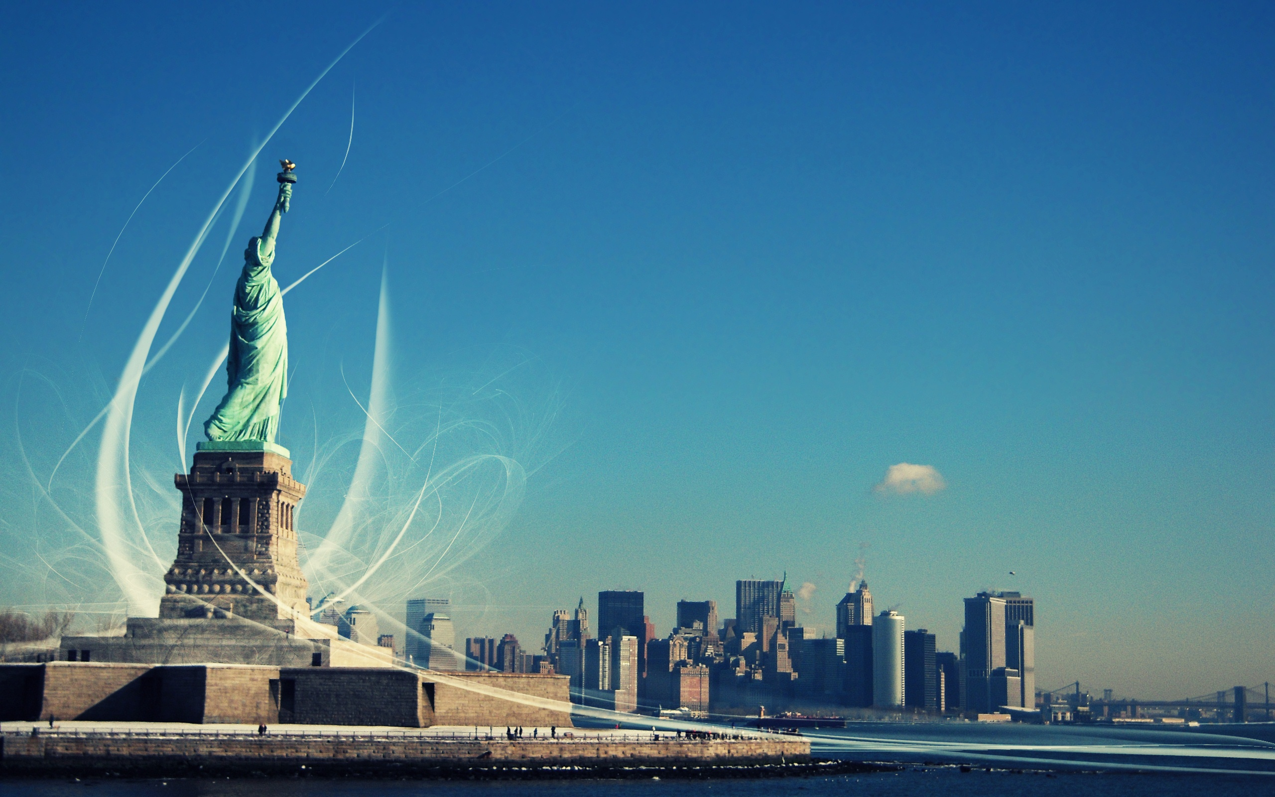 New York Statue Of Liberty Hd Wallpaper