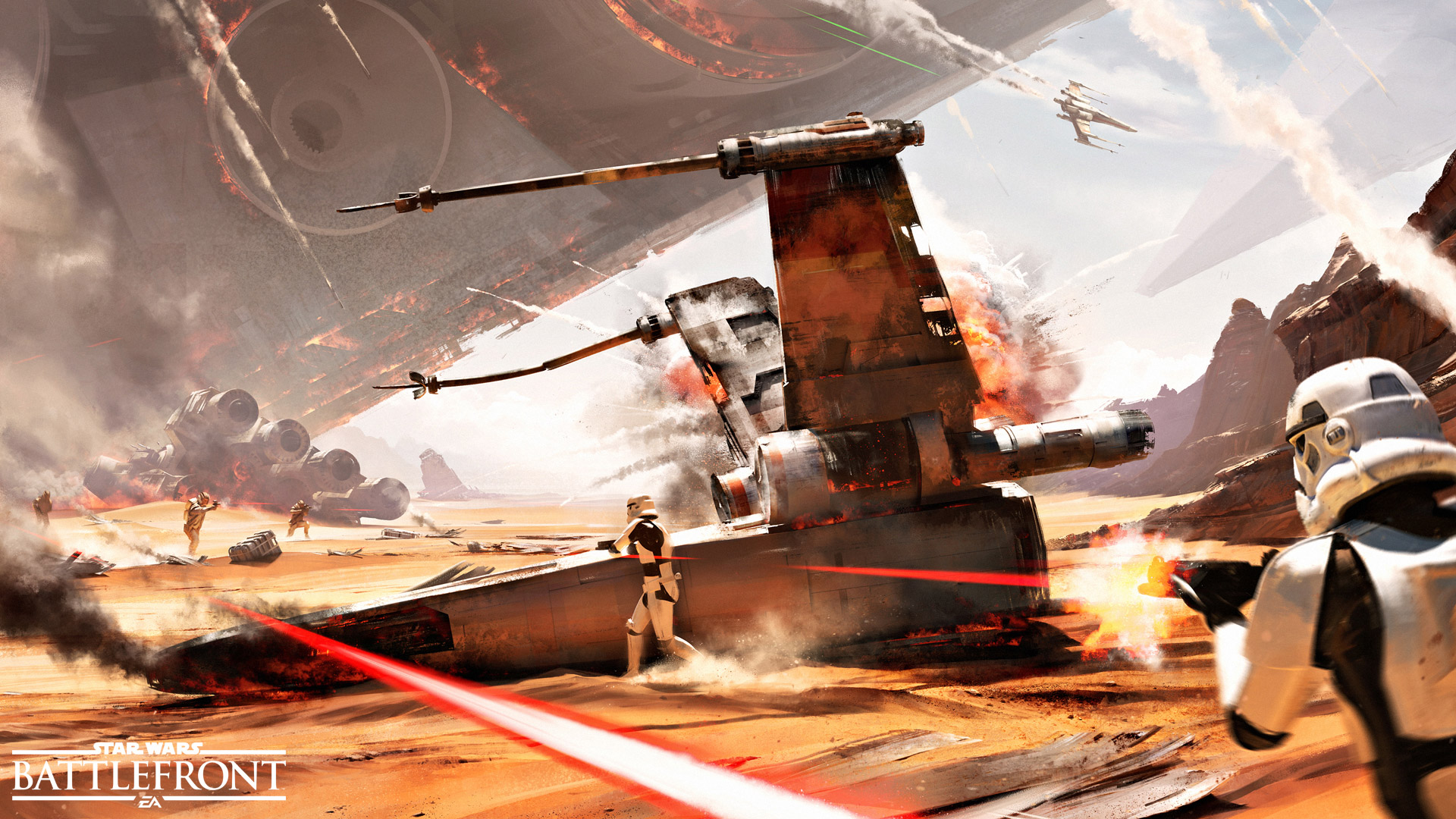 Battle Of Jakku Star Wars Battlefront Hd Wallpaper