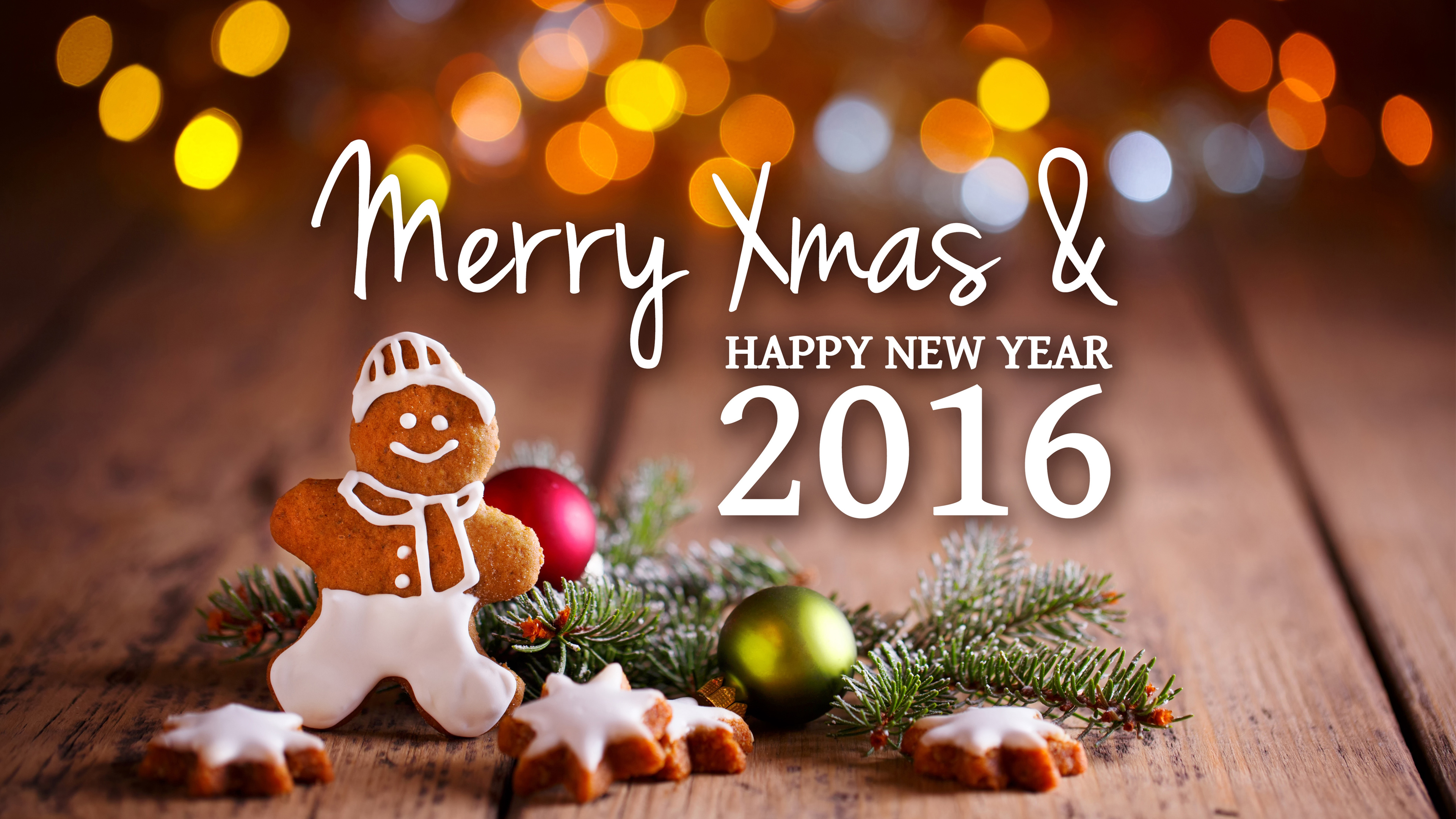 Merry Xmas New Year 2016 wallpaper