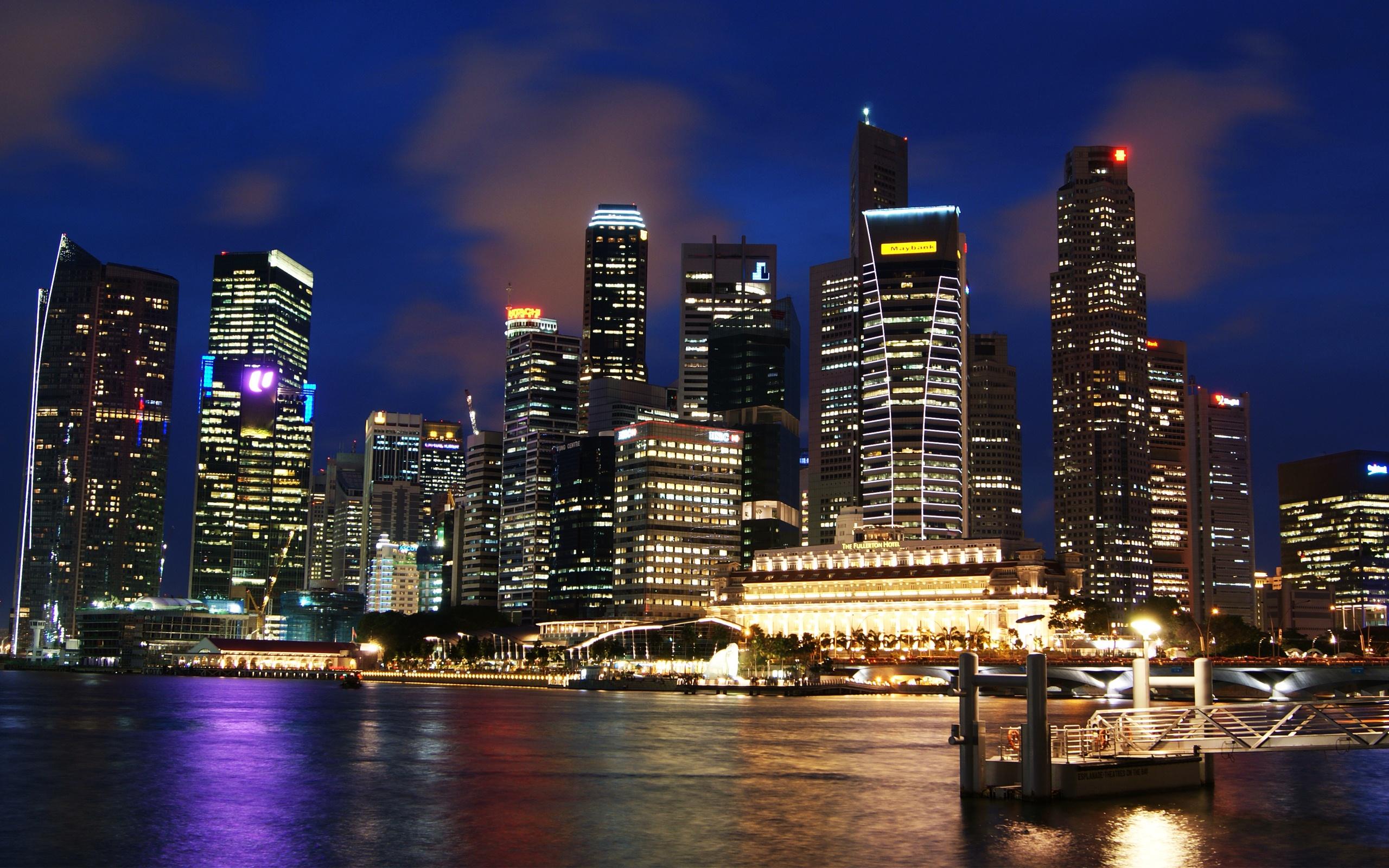 Singapore Skyline HD wallpaper