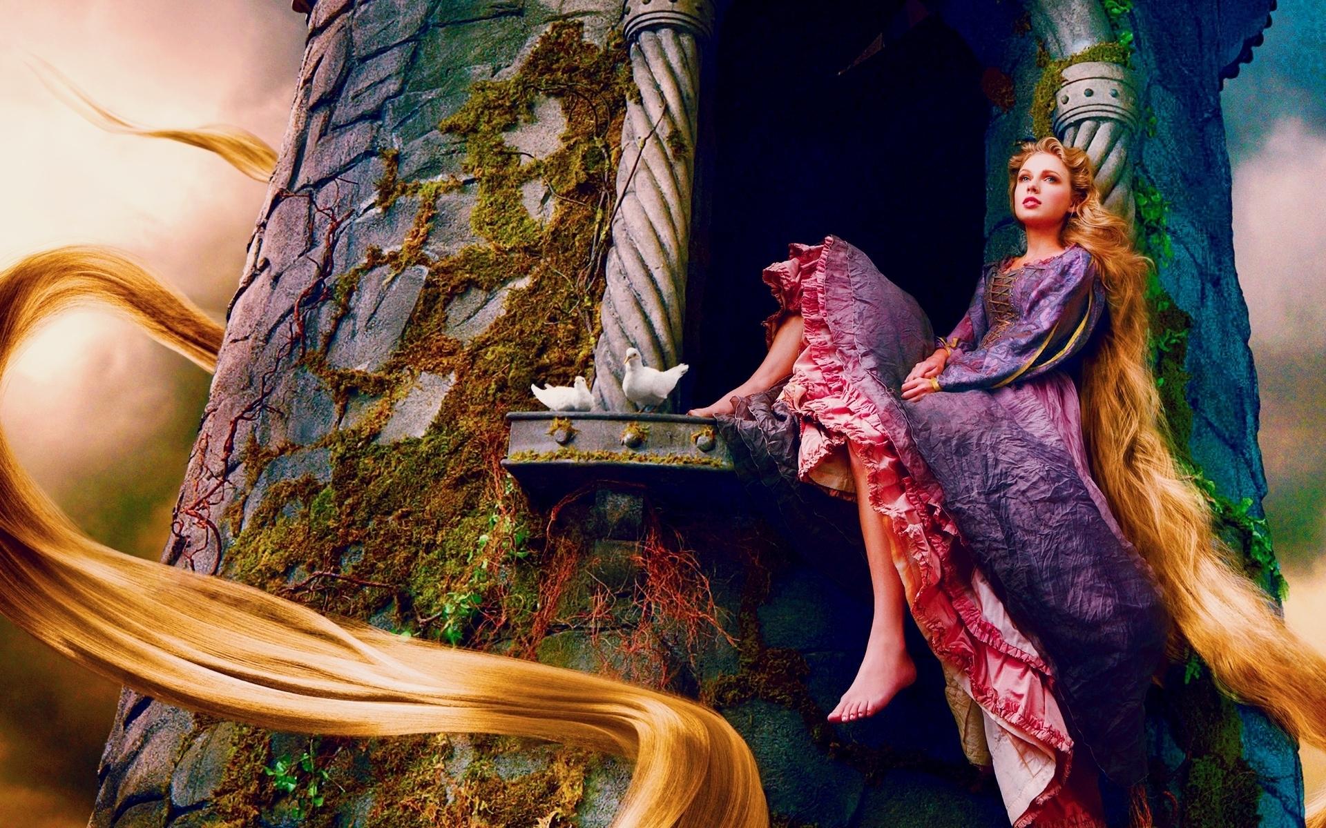 Taylor Swift As Rapunzel Wallpaper