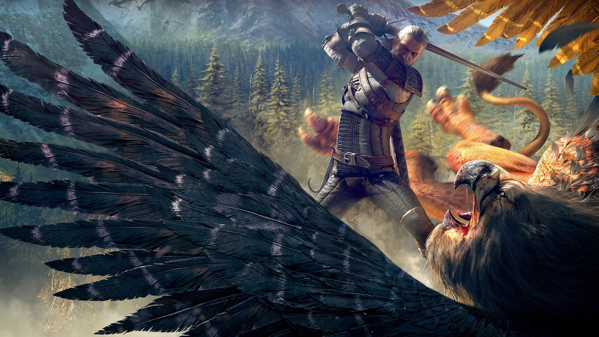The Witcher Wild Hunt Witcher Griffin wallpaper