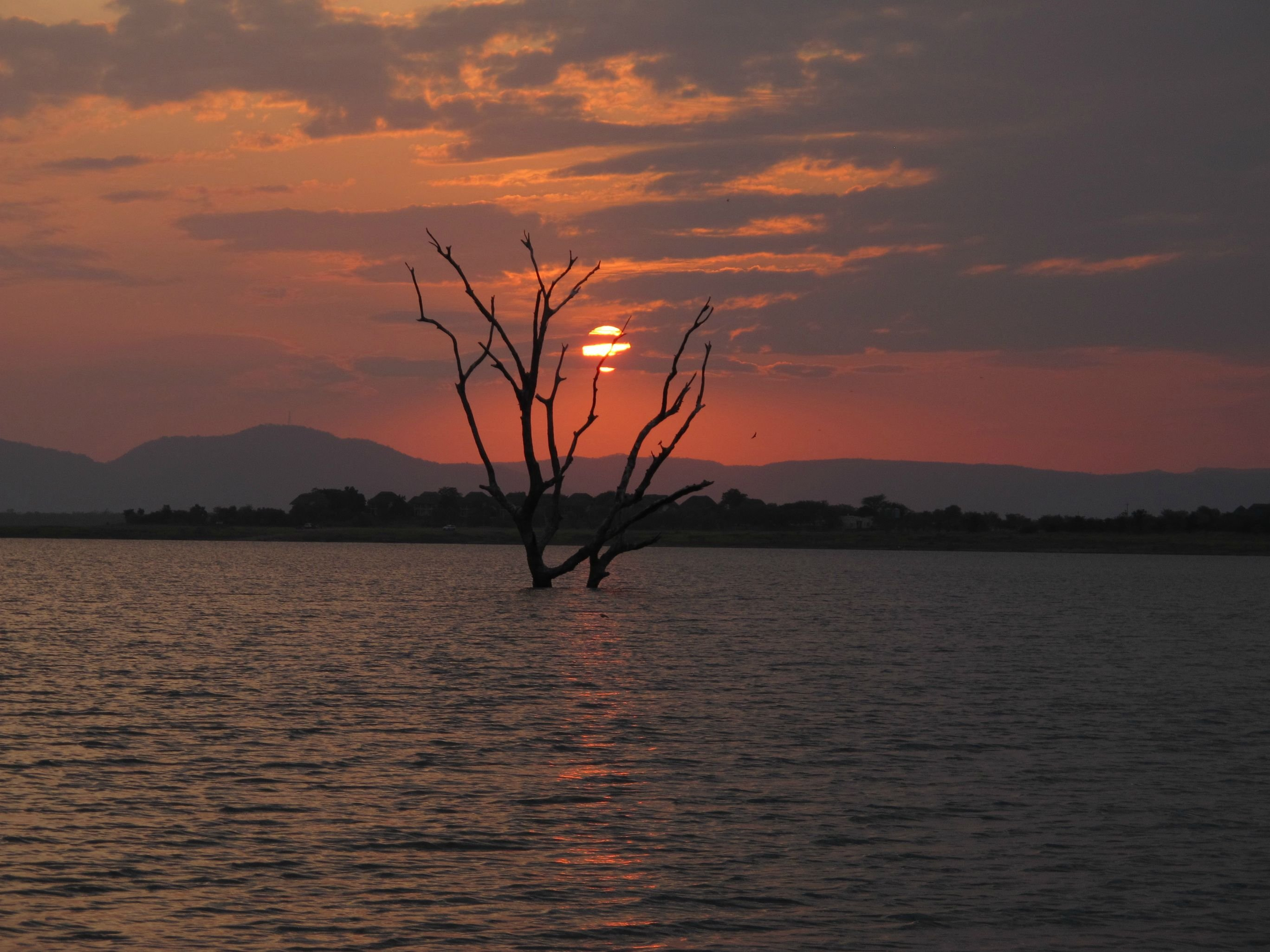 Lake Kariba At Sunset Zimbabwe Hd Wallpaper