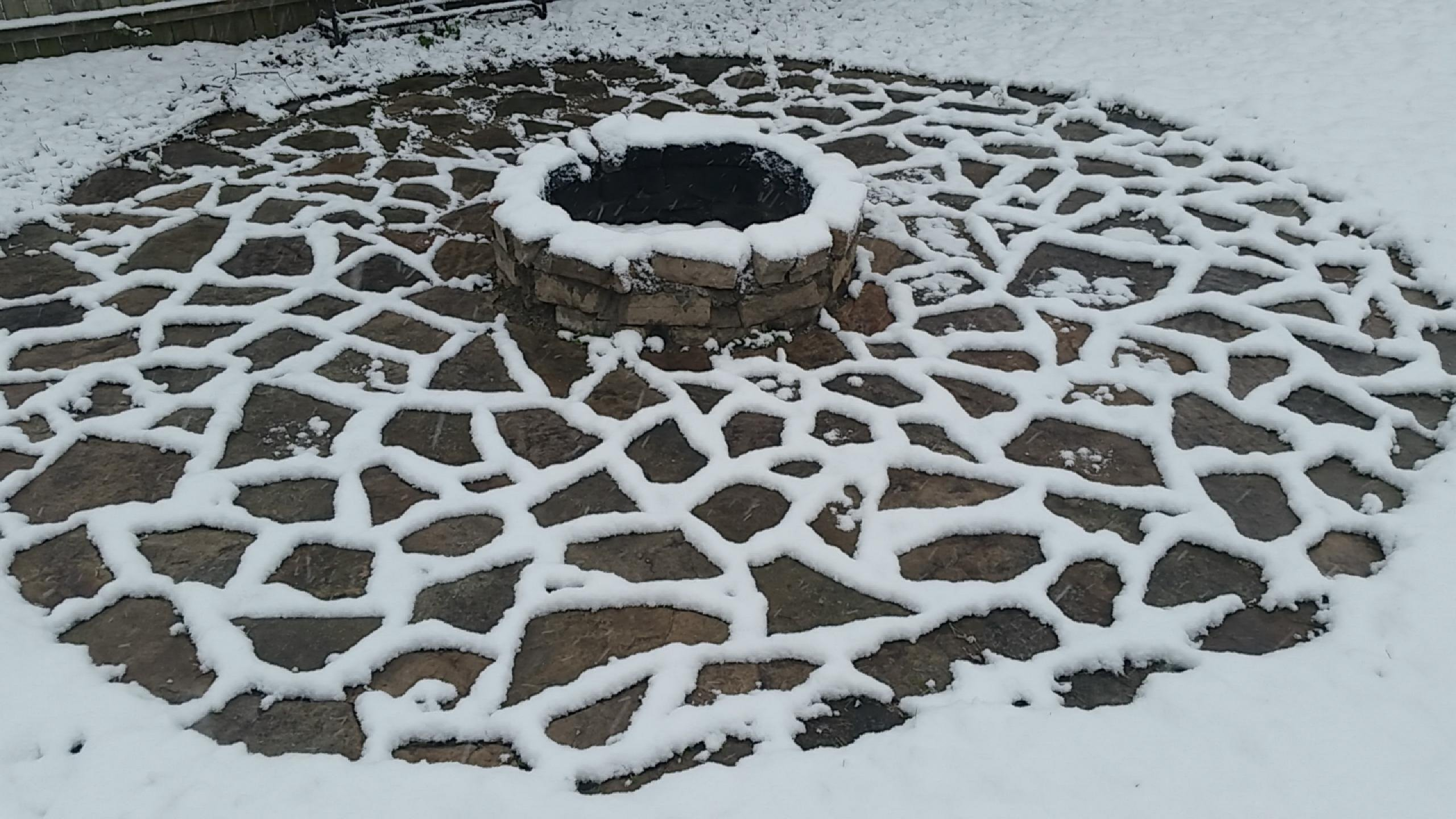 Snow at My Fire Pit wallpaper