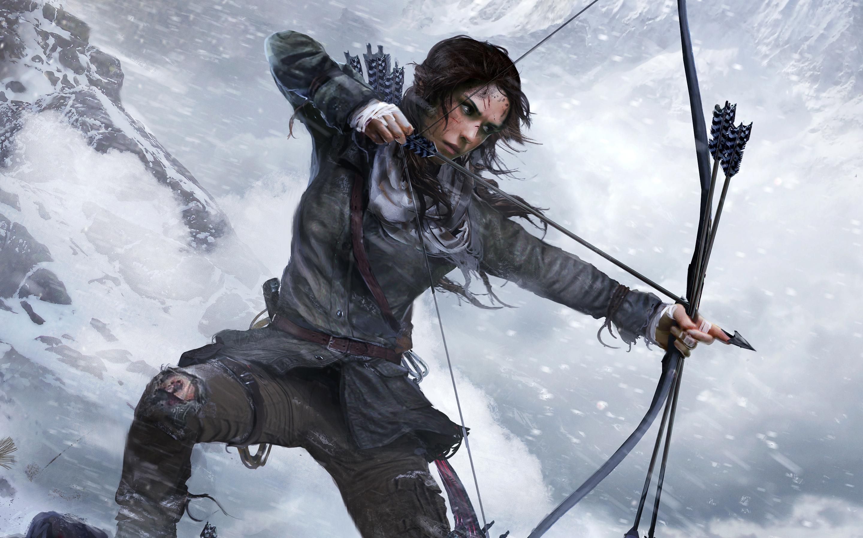Lara Croft Rise Of The Tomb Raider Official Artwork Hd Wallpaper