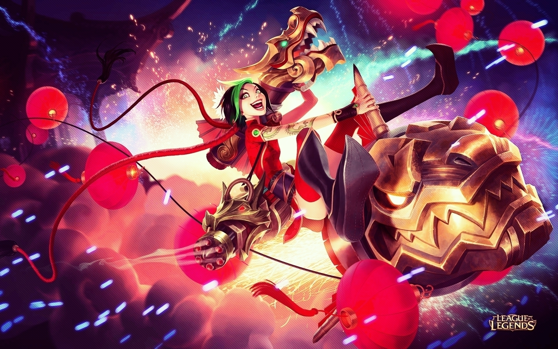 Firecracker Jinx League Of Legends Hd Wallpaper