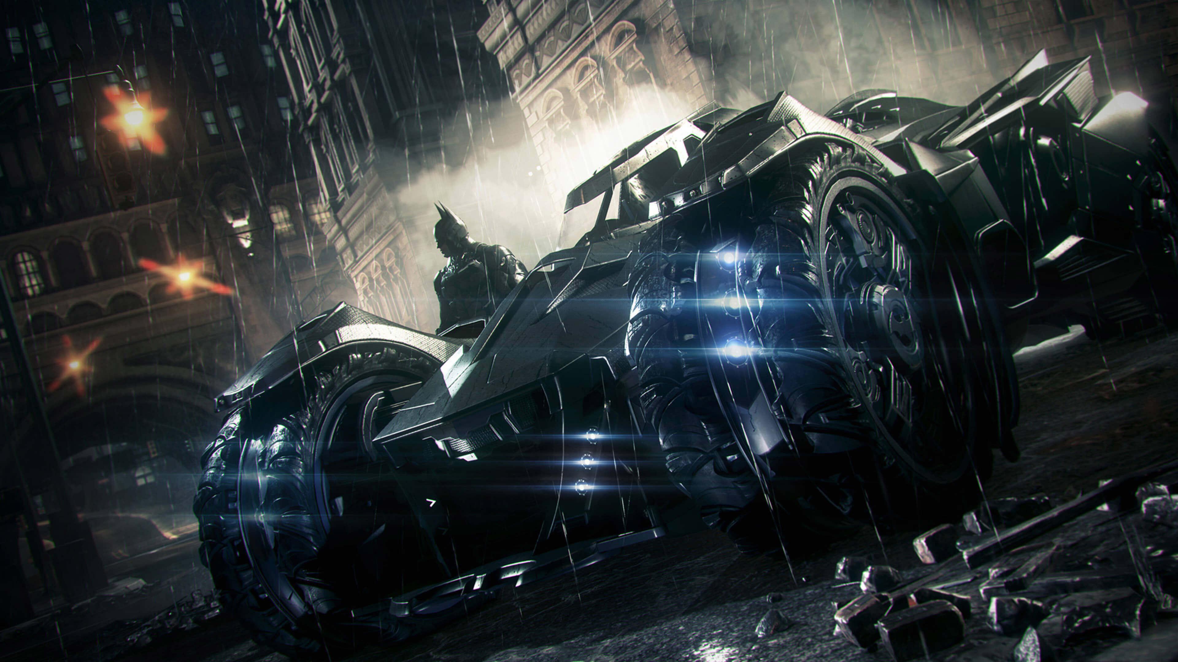Batmobile Batman Arkham Knight 4k Wallpaper