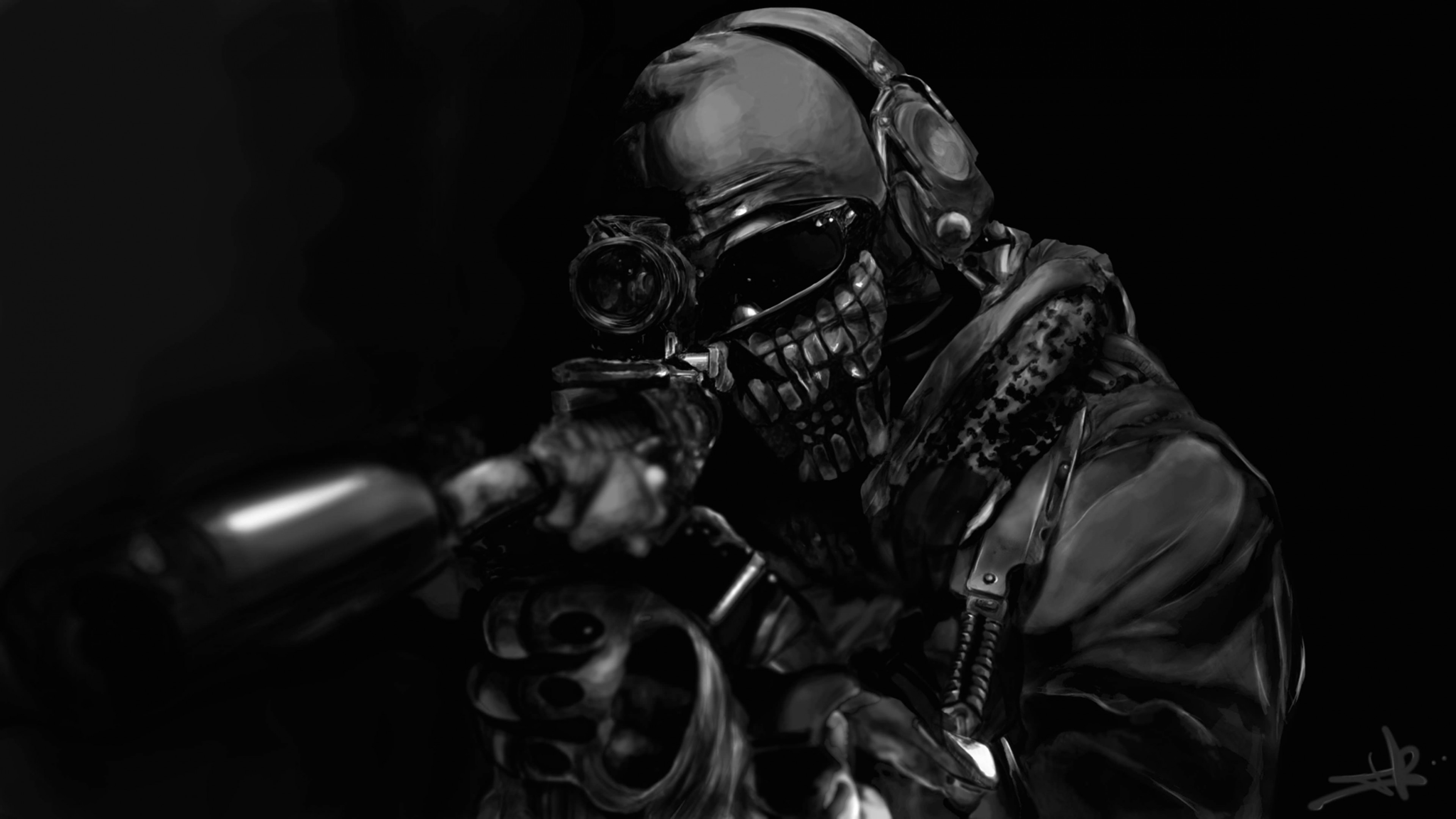 Call of Duty Ghost Masked Warrior wallpaper