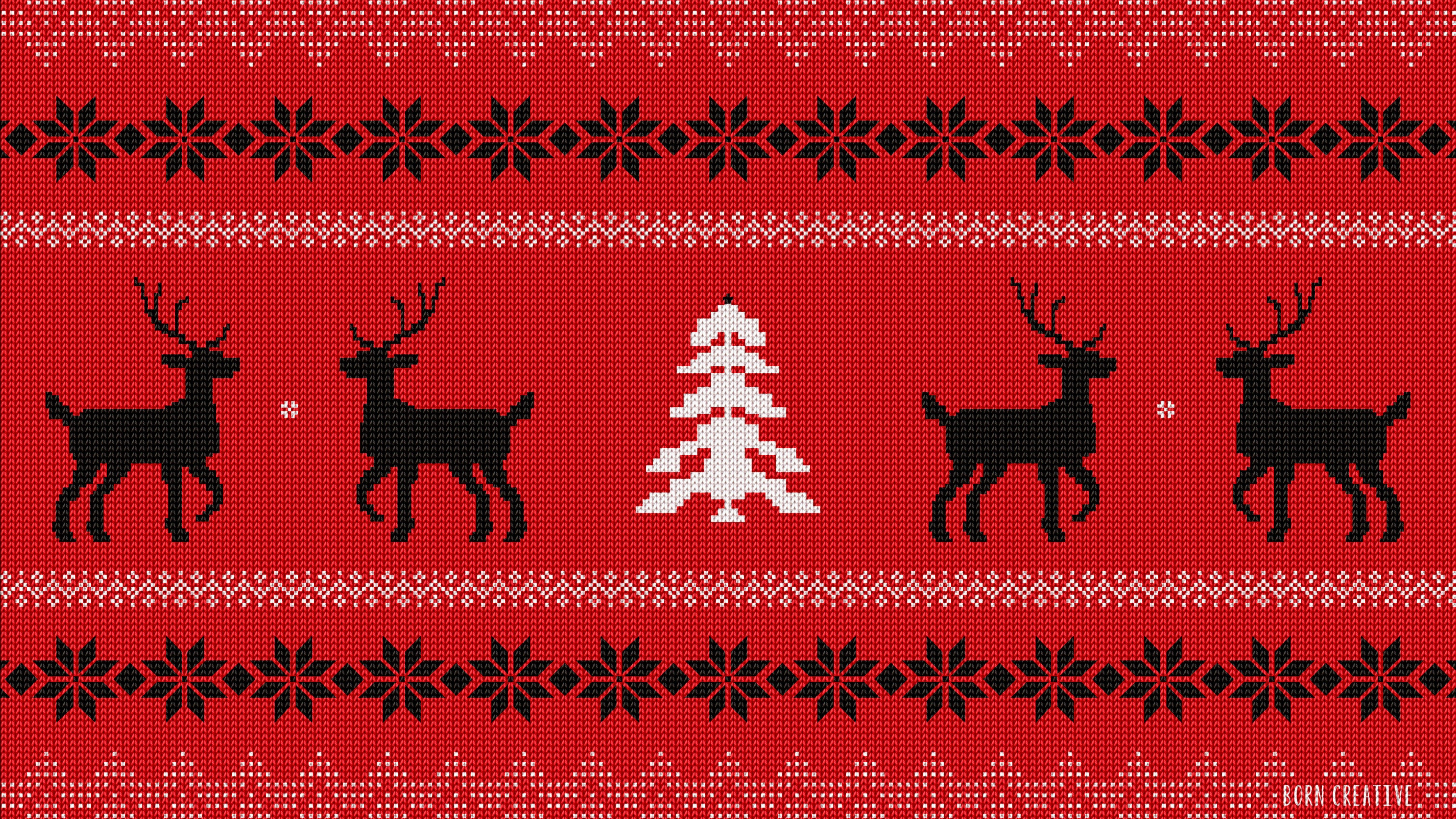 Ugly Christmas Sweater 4K wallpaper