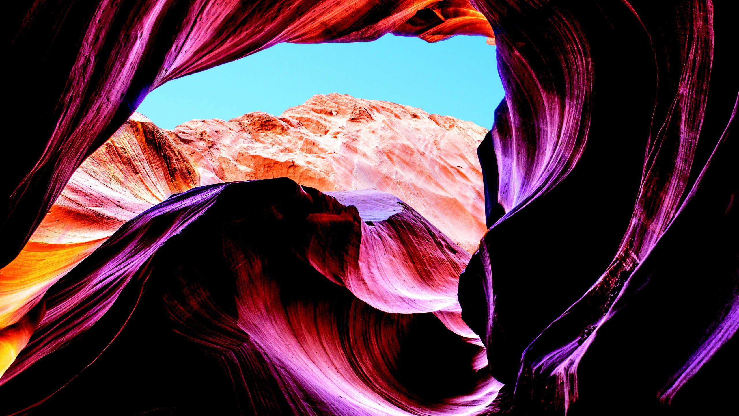 Slot canyon wallpaper
