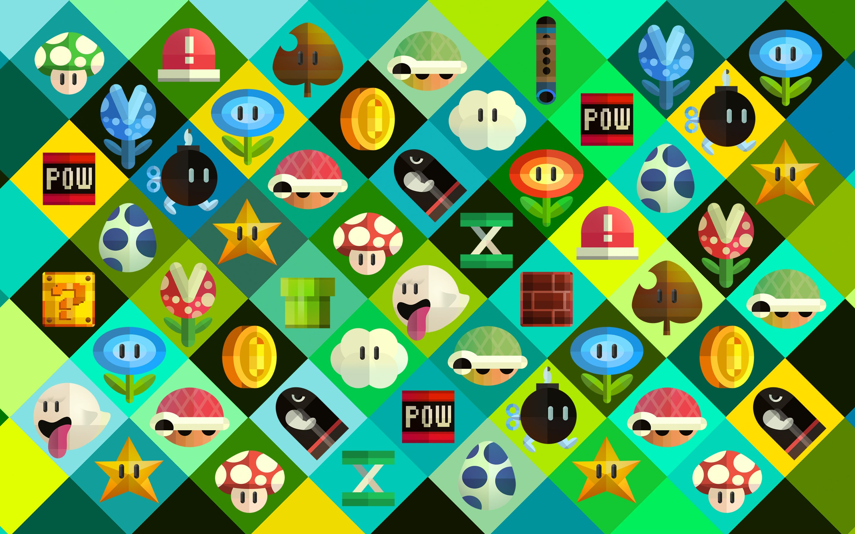 Mario Items HD wallpaper