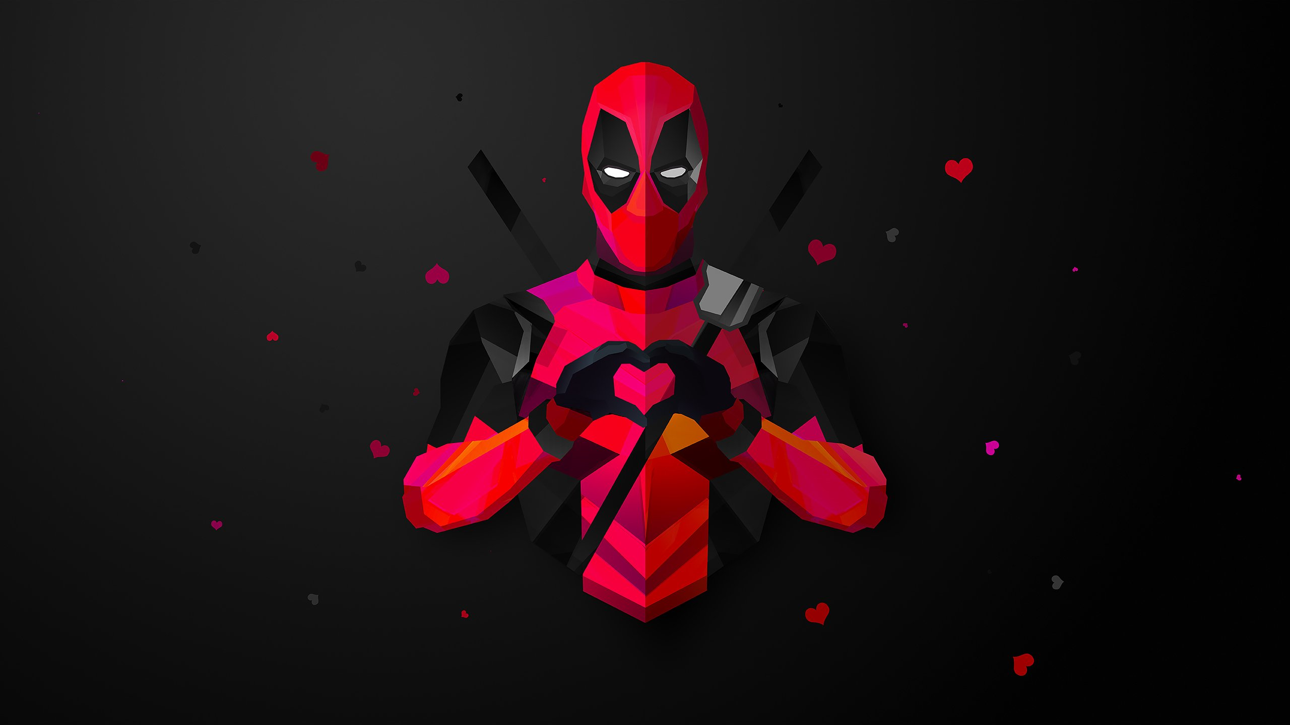 deadpool low poly hd wallpaper