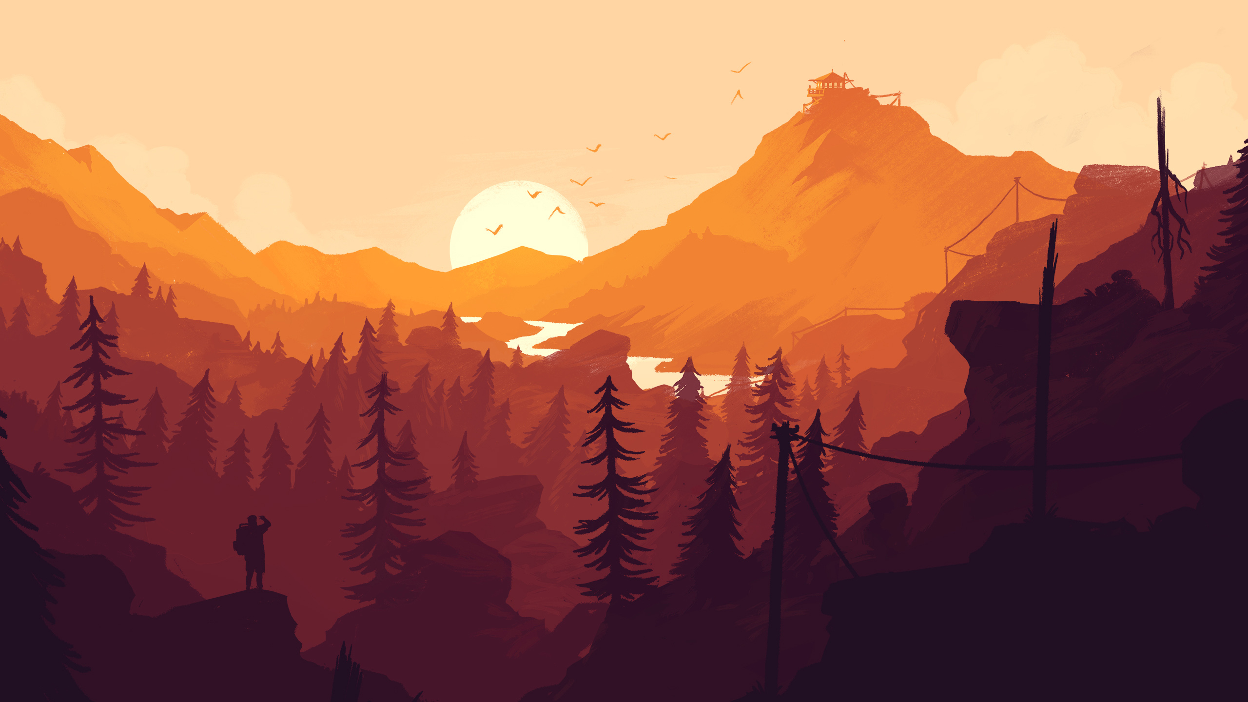 8k Animal Wallpaper Download: Firewatch Wallpapers, Photos And Desktop Backgrounds Up To