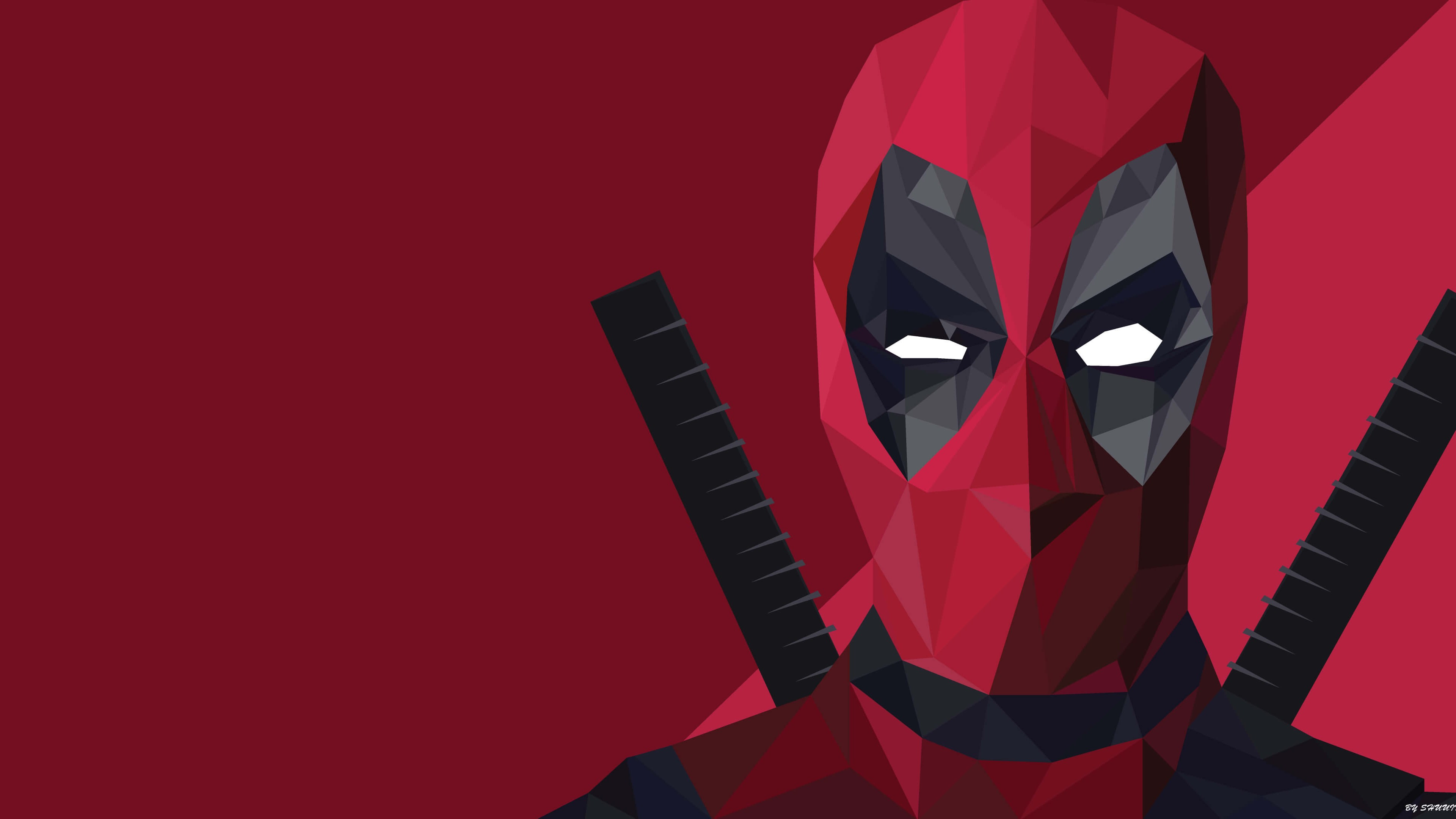 low-poly-deadpo... Deadpool Wallpaper