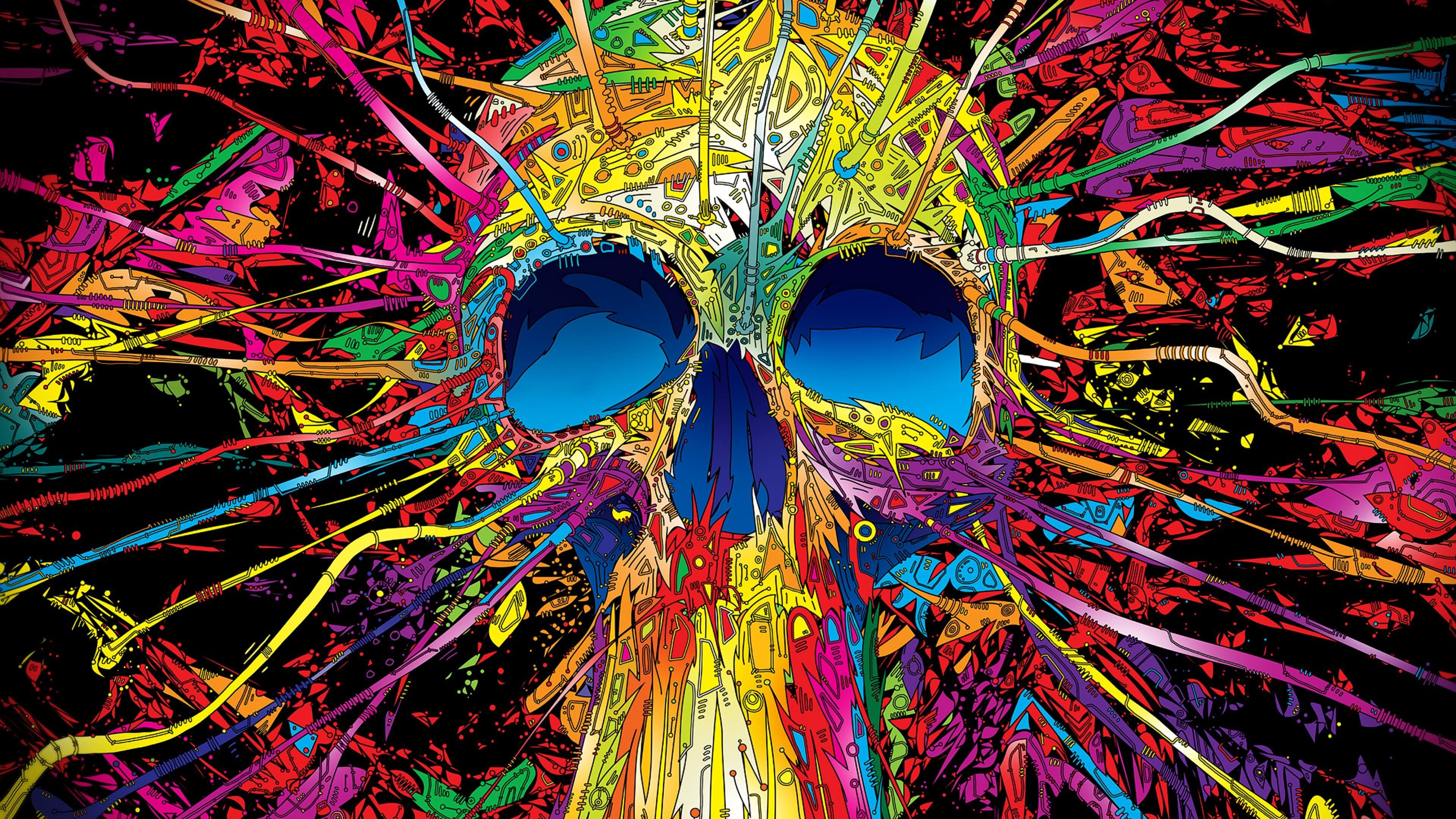 psychedelic skull wallpaper