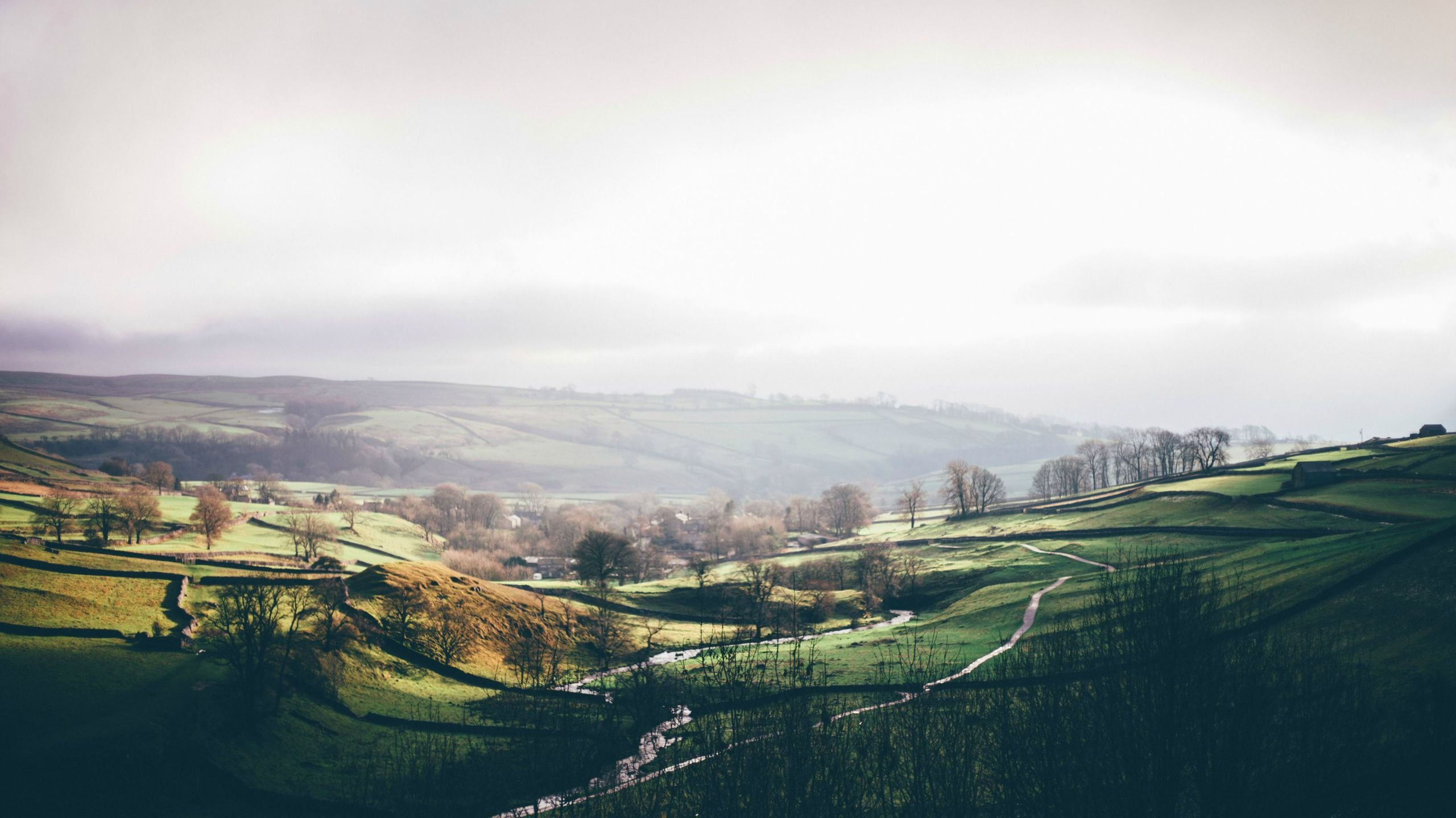 Yorkshire Dales From Atop Malham Cove wallpaper