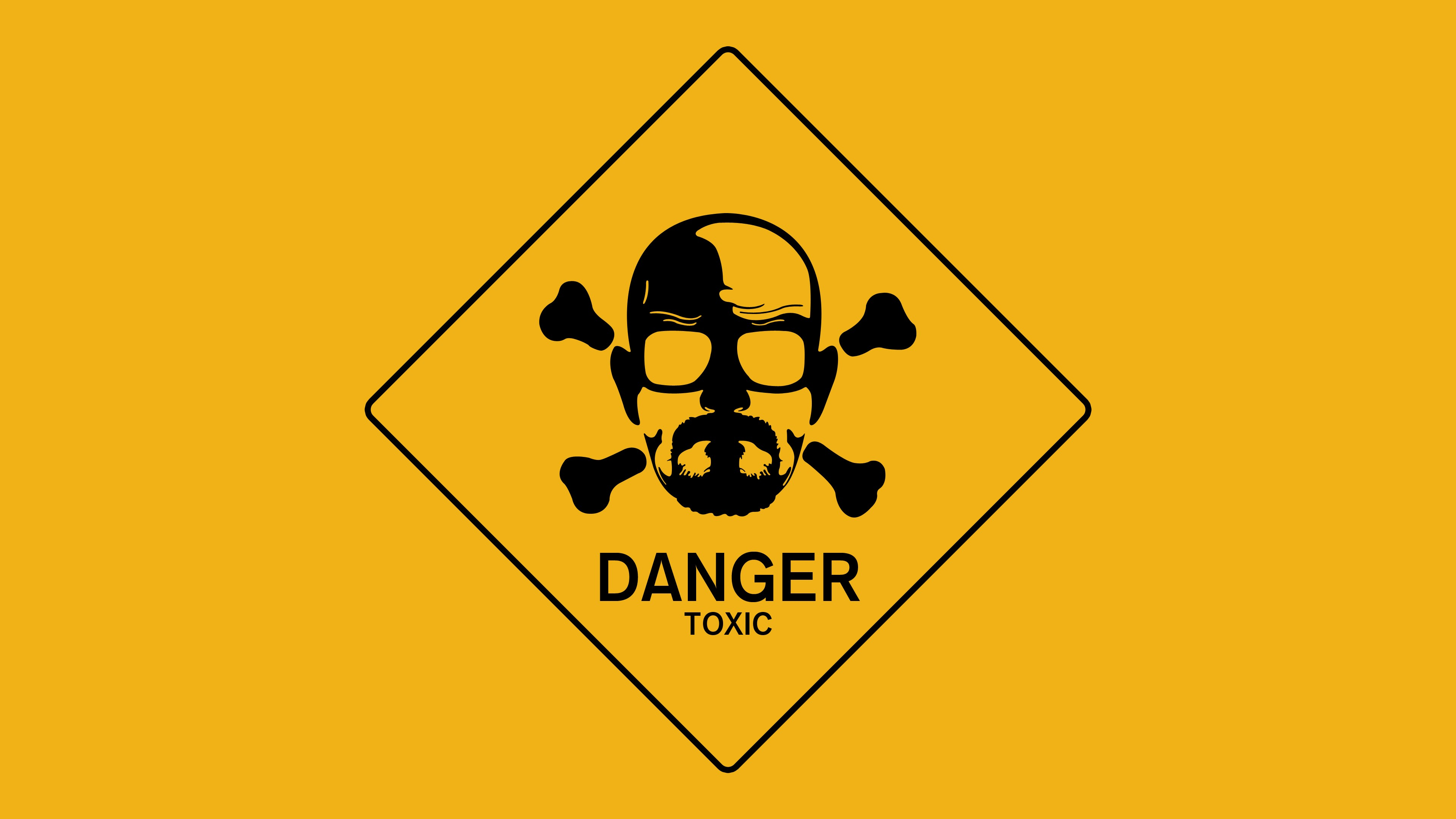 Breaking Bad Walt Danger Toxic Sign wallpaper