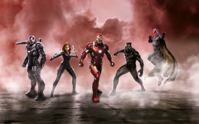 Captain America Civil War Cast 5k Hd Wallpaper