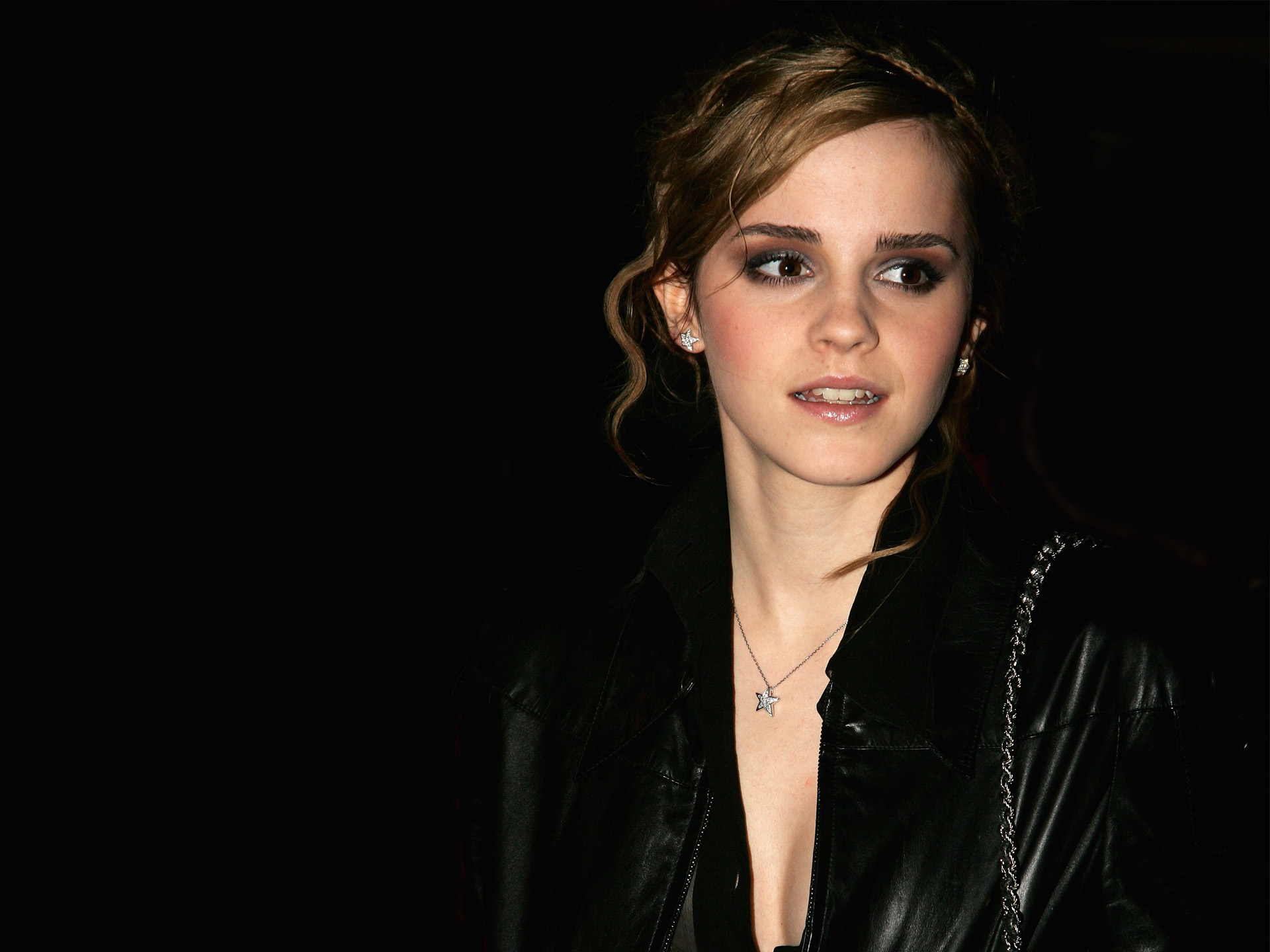 Emma Watson in Black Coat wallpaper