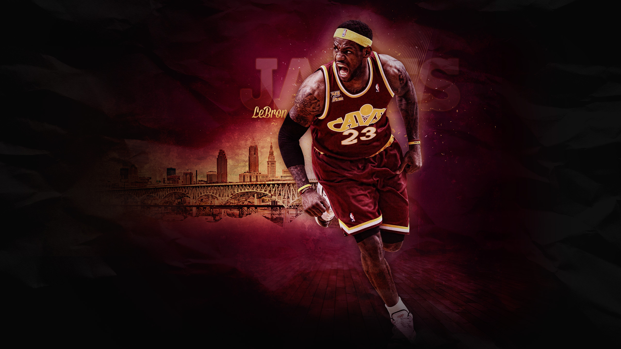LeBron James HD wallpaper