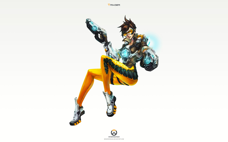 Tracer Overwatch Art 4k Hd Wallpaper