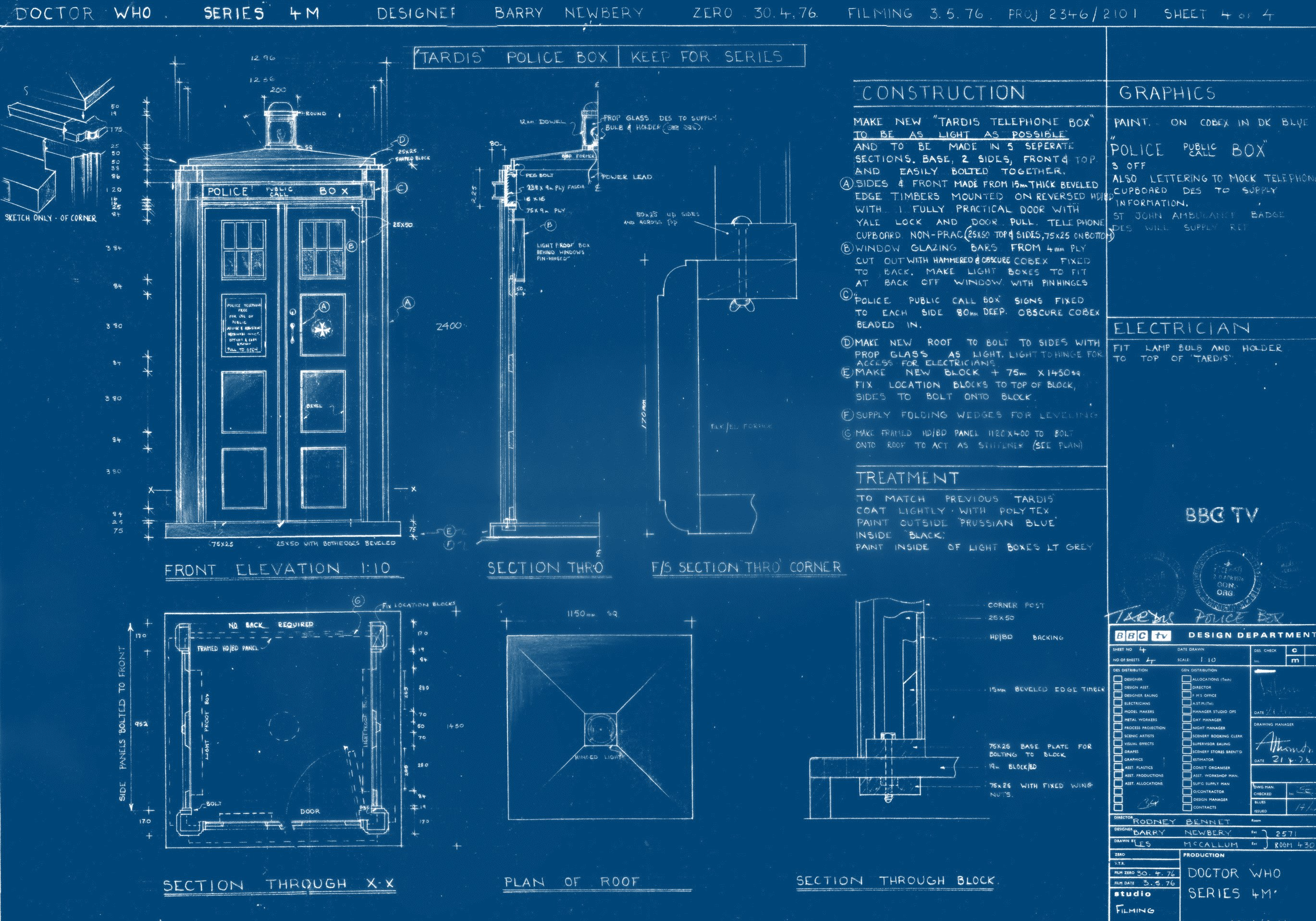 Cool TARDIS Blueprint HD wallpaper