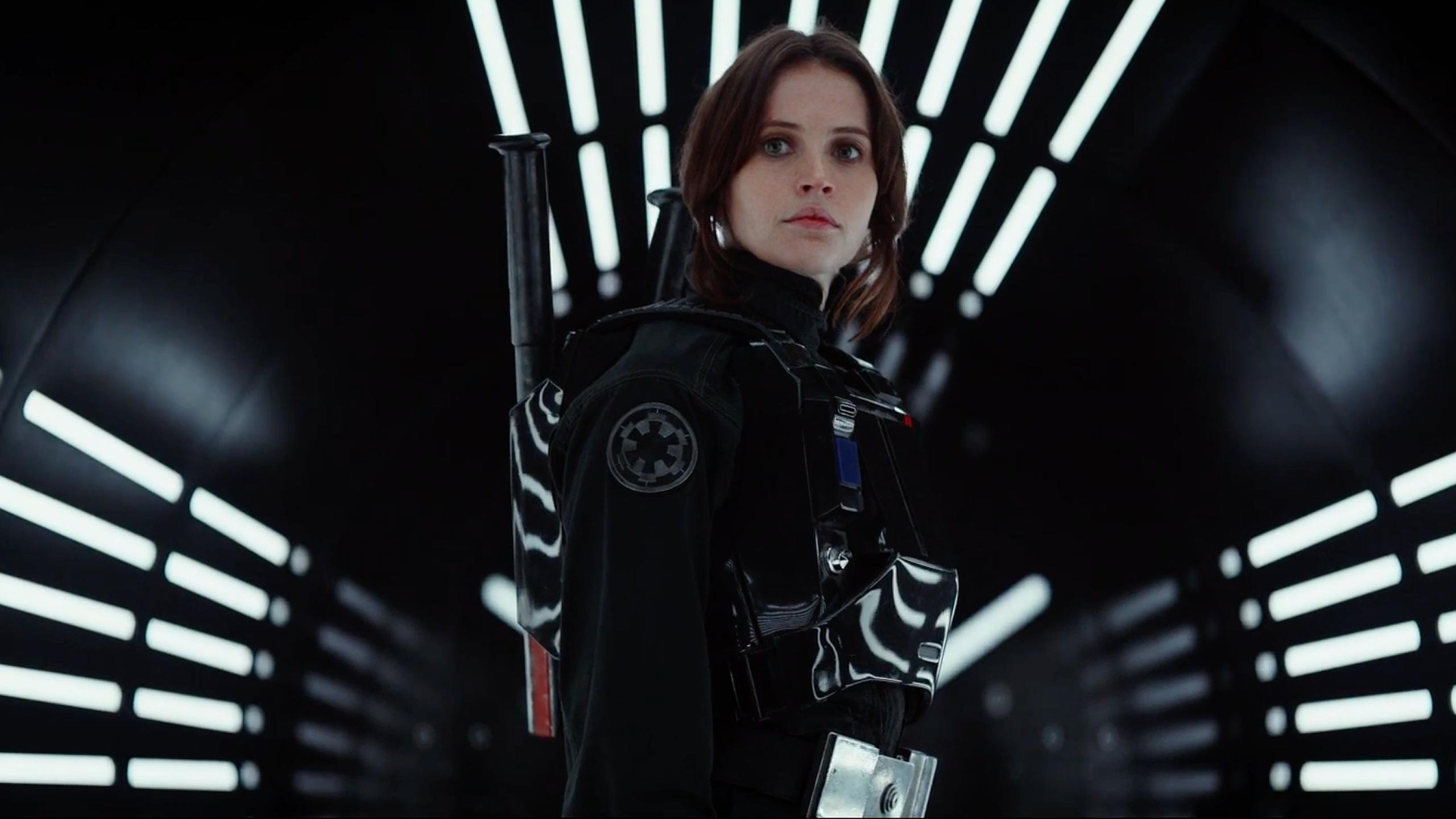 Felicity Jones in the Rogue One Trailer wallpaper