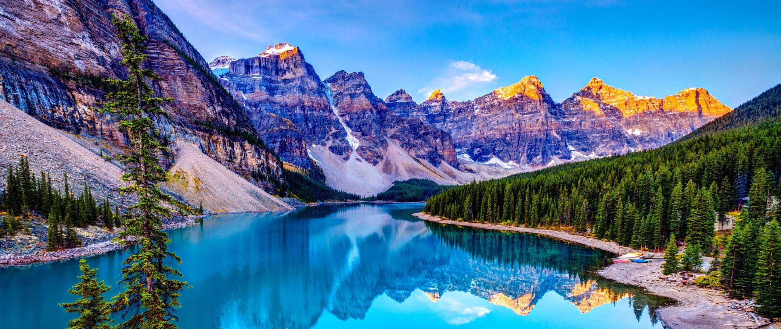 Lake Moraine Banff National Park wallpaper