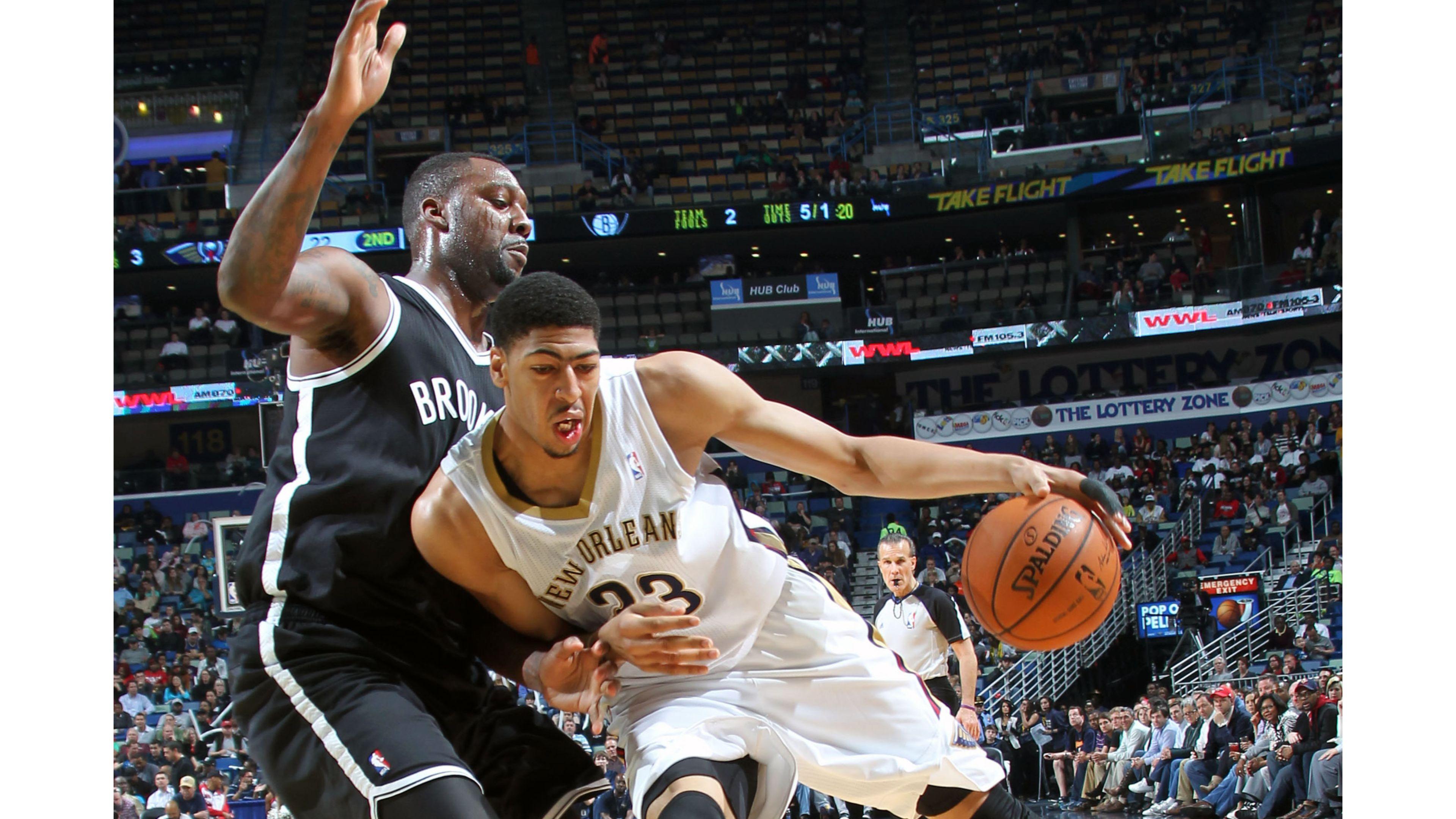 Nets Vs Pelicans Anthony Davis 4k Wallpaper