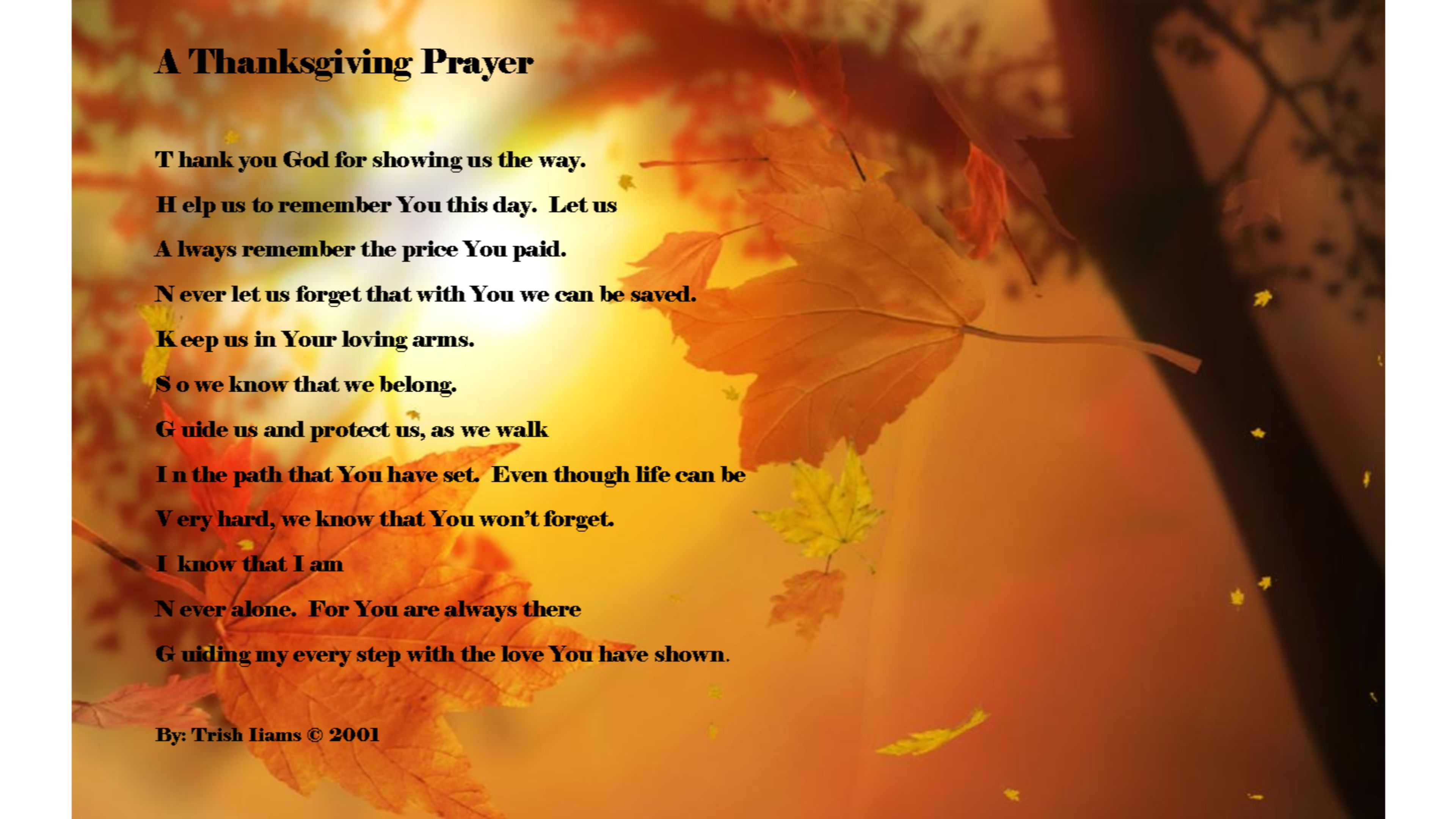 Prayer Happy Thanksgiving 4K wallpaper