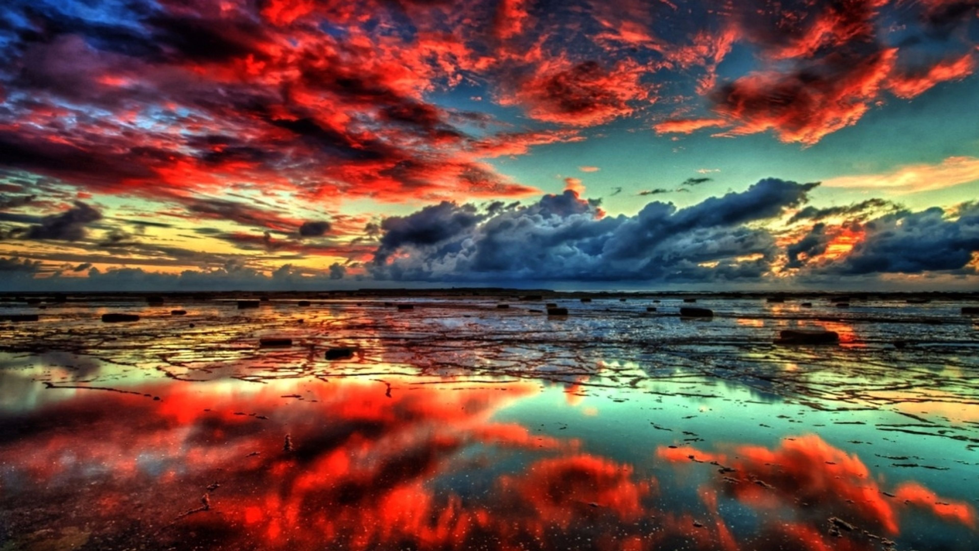 Red Clouds Nature S wallpaper