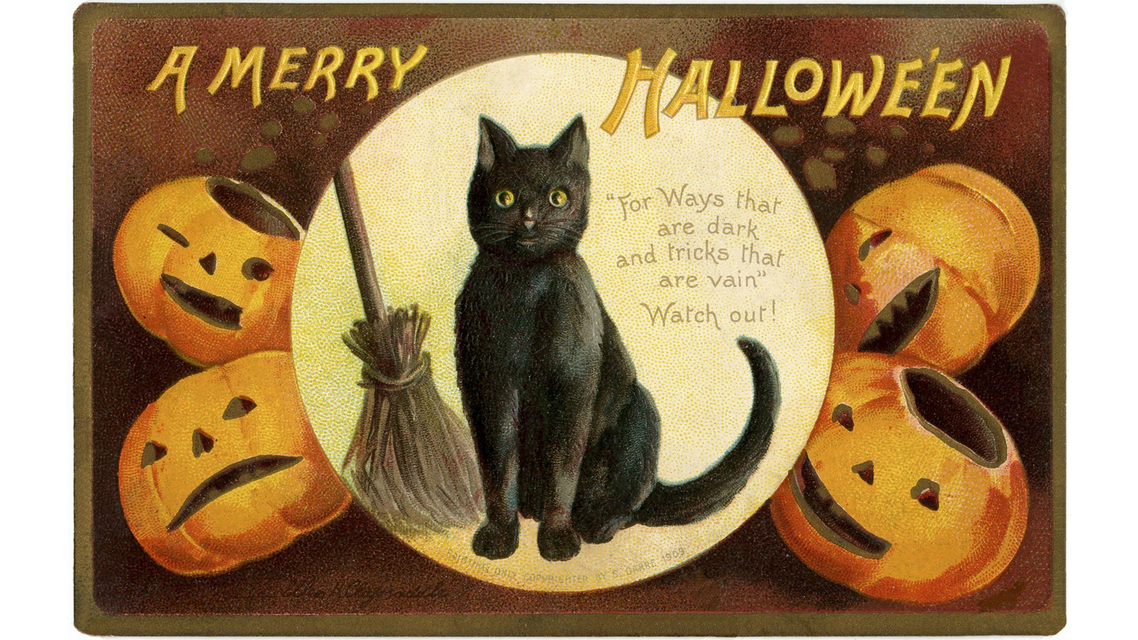 Vintage Halloween 4K wallpaper