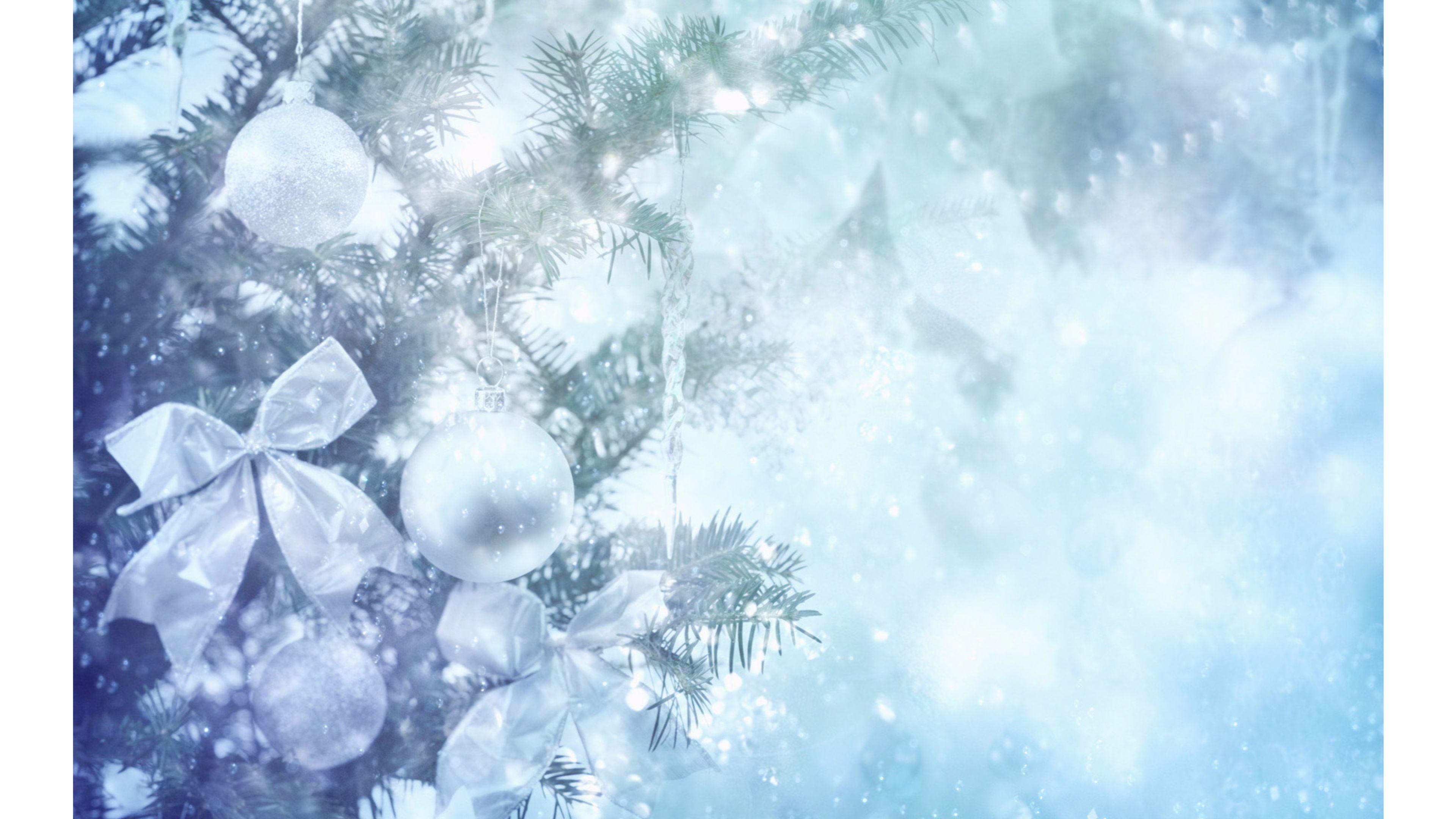 vintage christmas tree 4k winter wallpaper