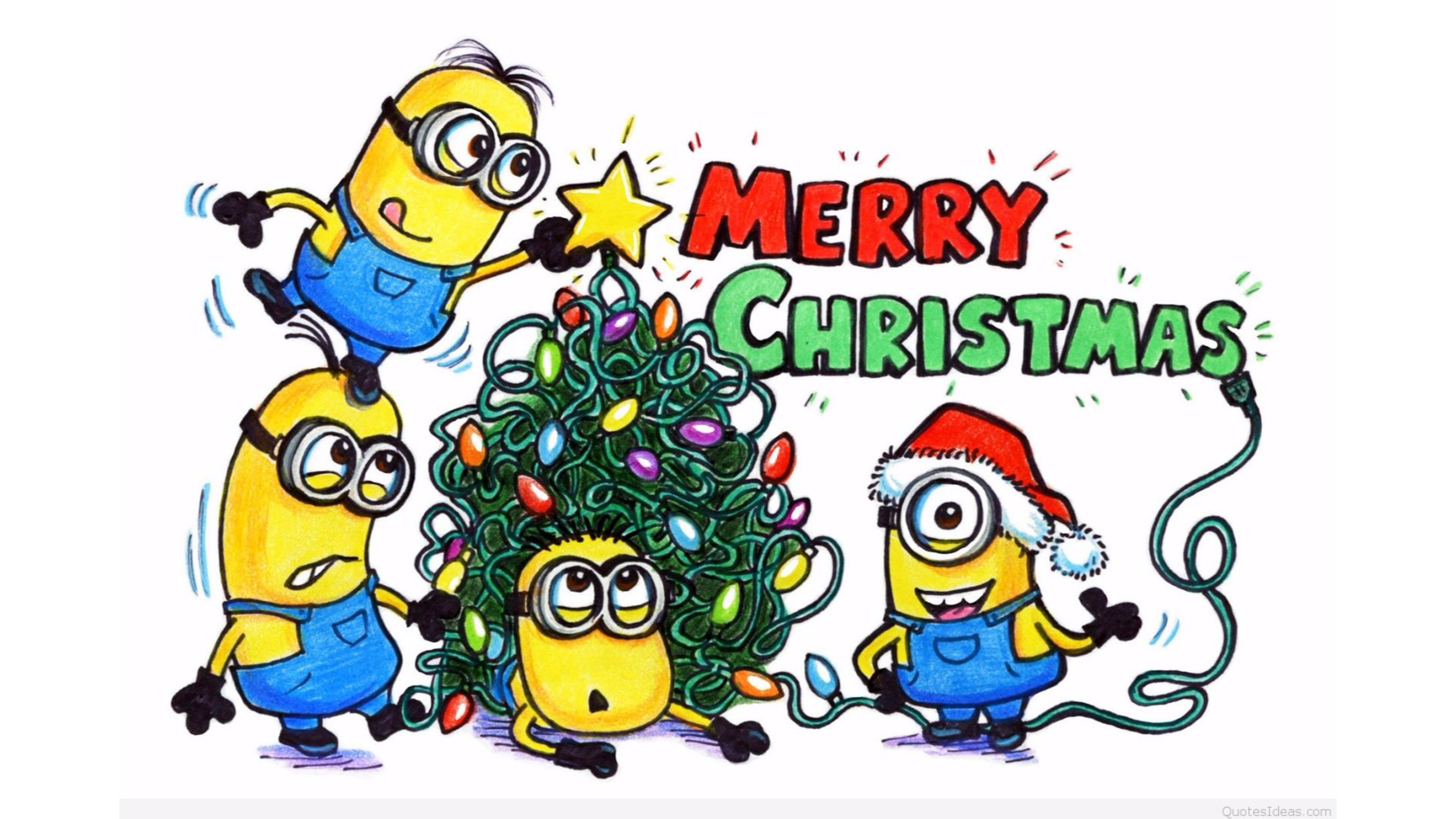 Merry Christmas Minions wallpaper