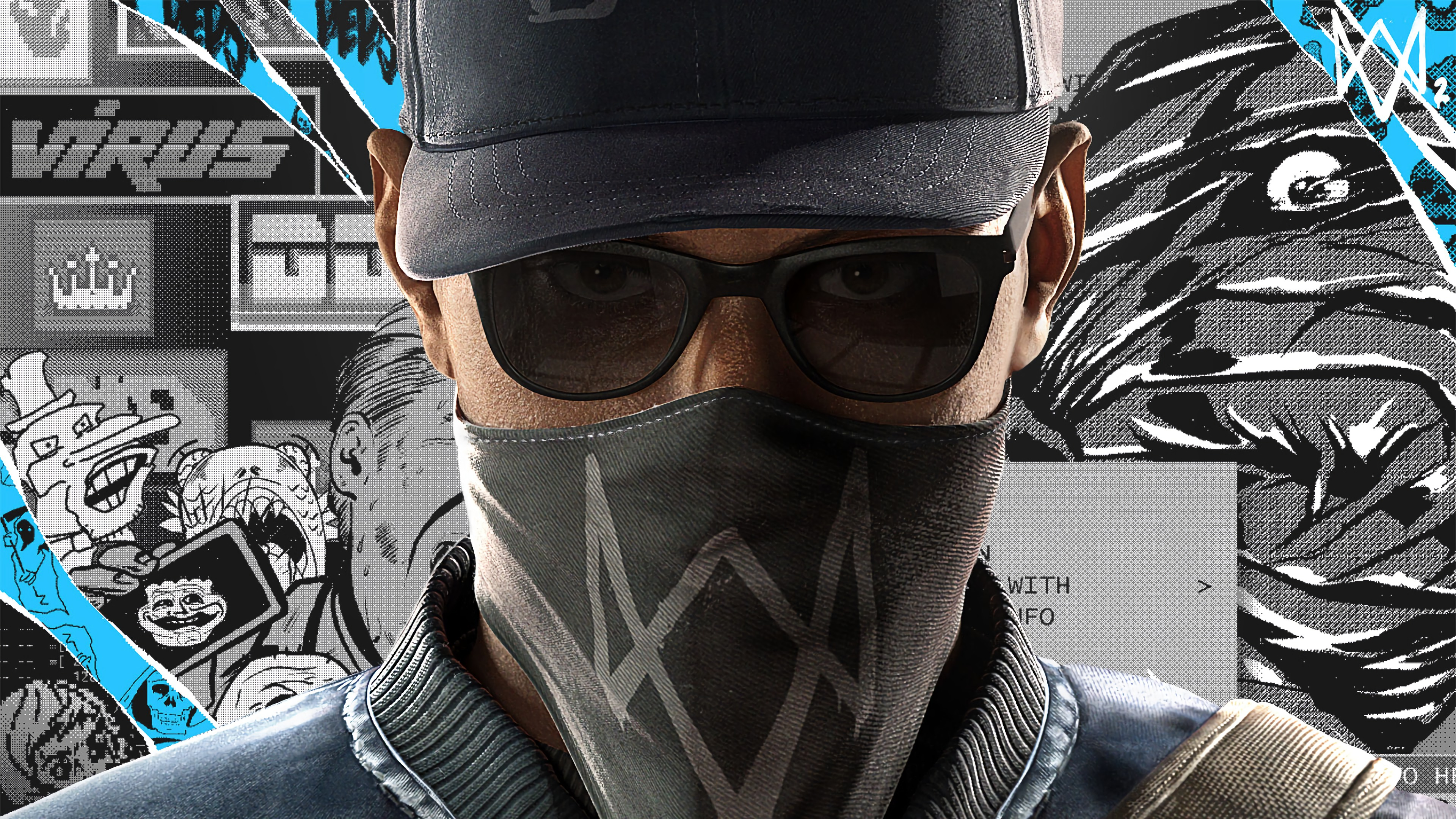 Watch Dogs Marcus Holloway 4K wallpaper