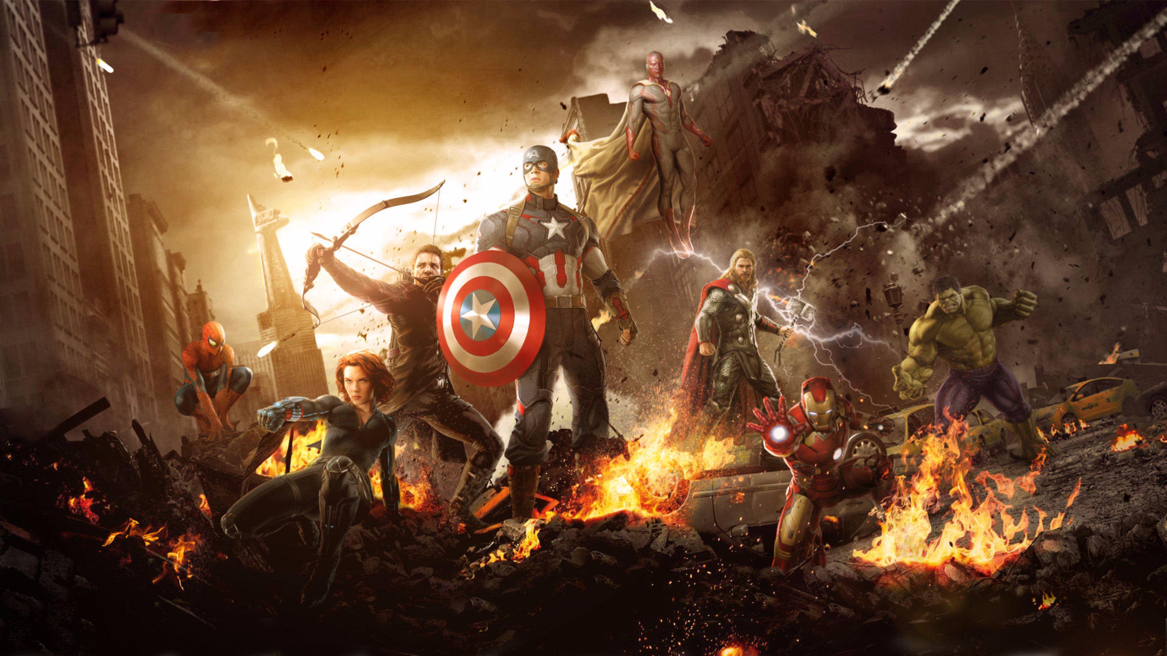New Avengers Age Of Ultron 4k Wallpaper