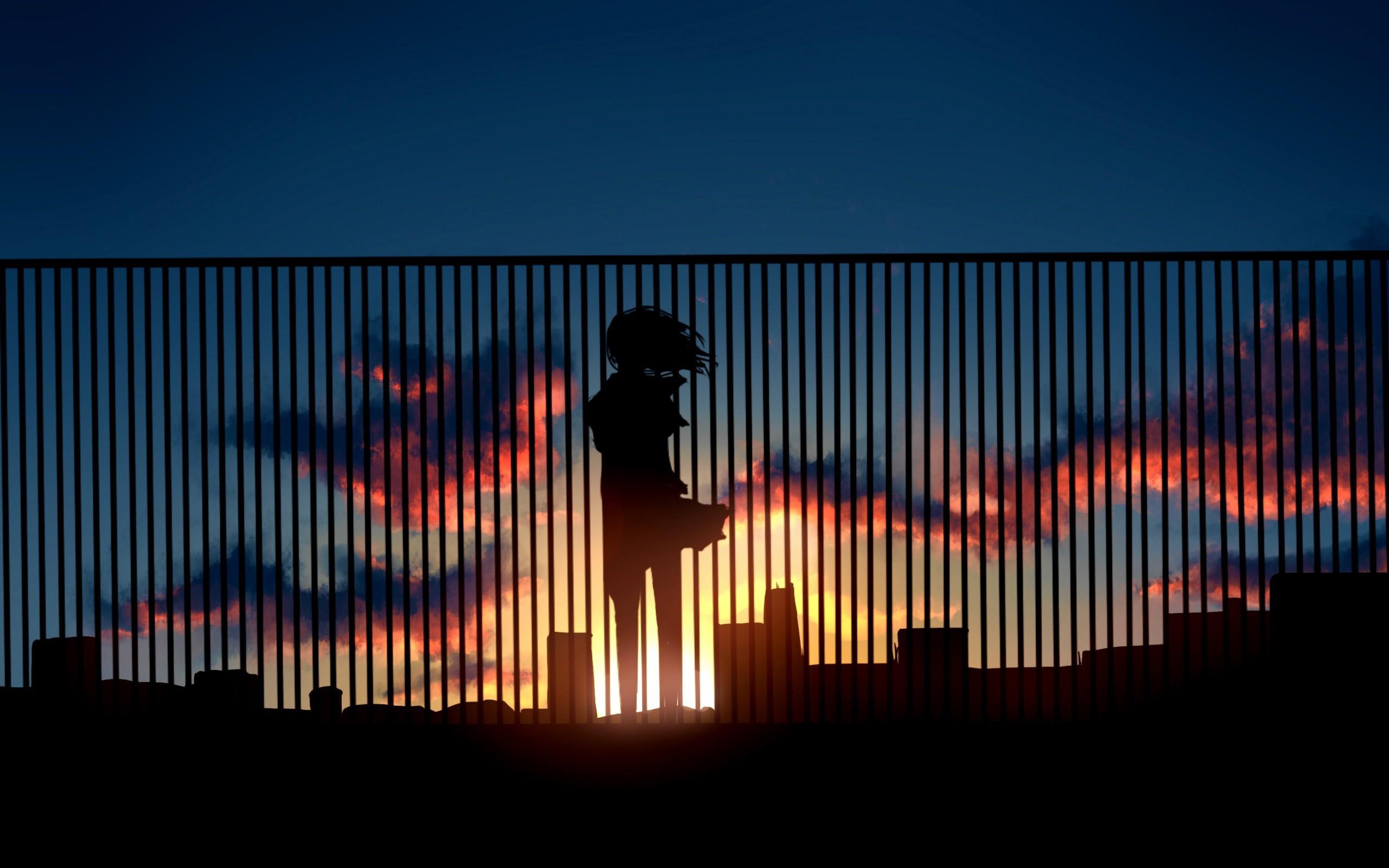 Alone Metro Sunset HD wallpaper