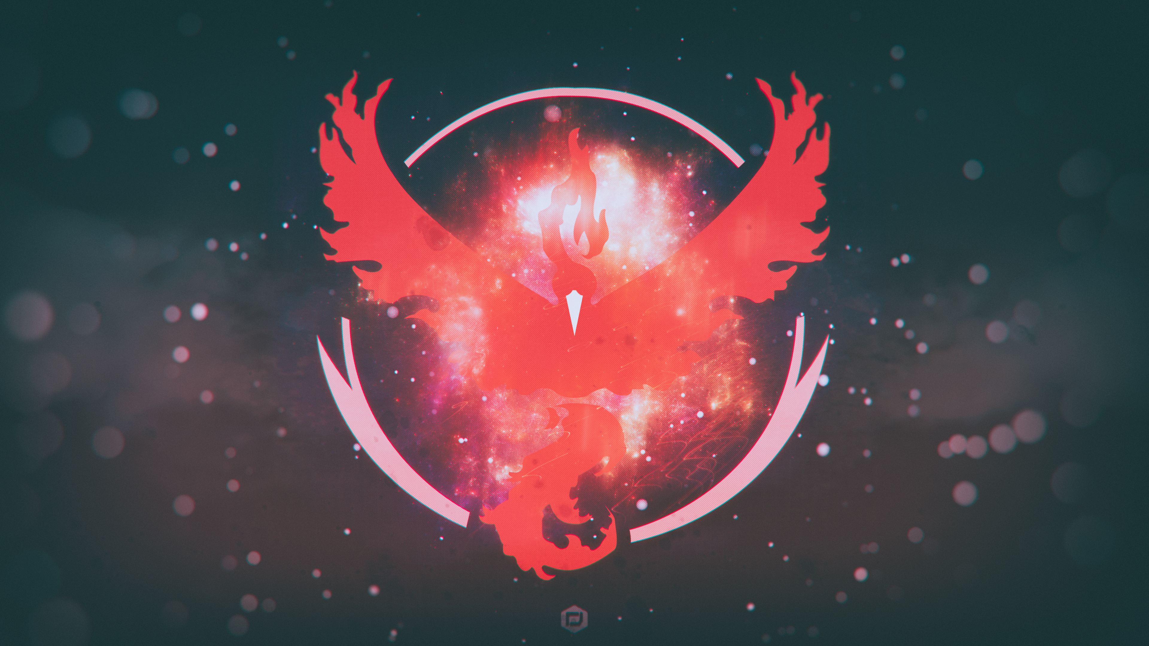 Pokemon Go Team Valor Team Red 4K wallpaper