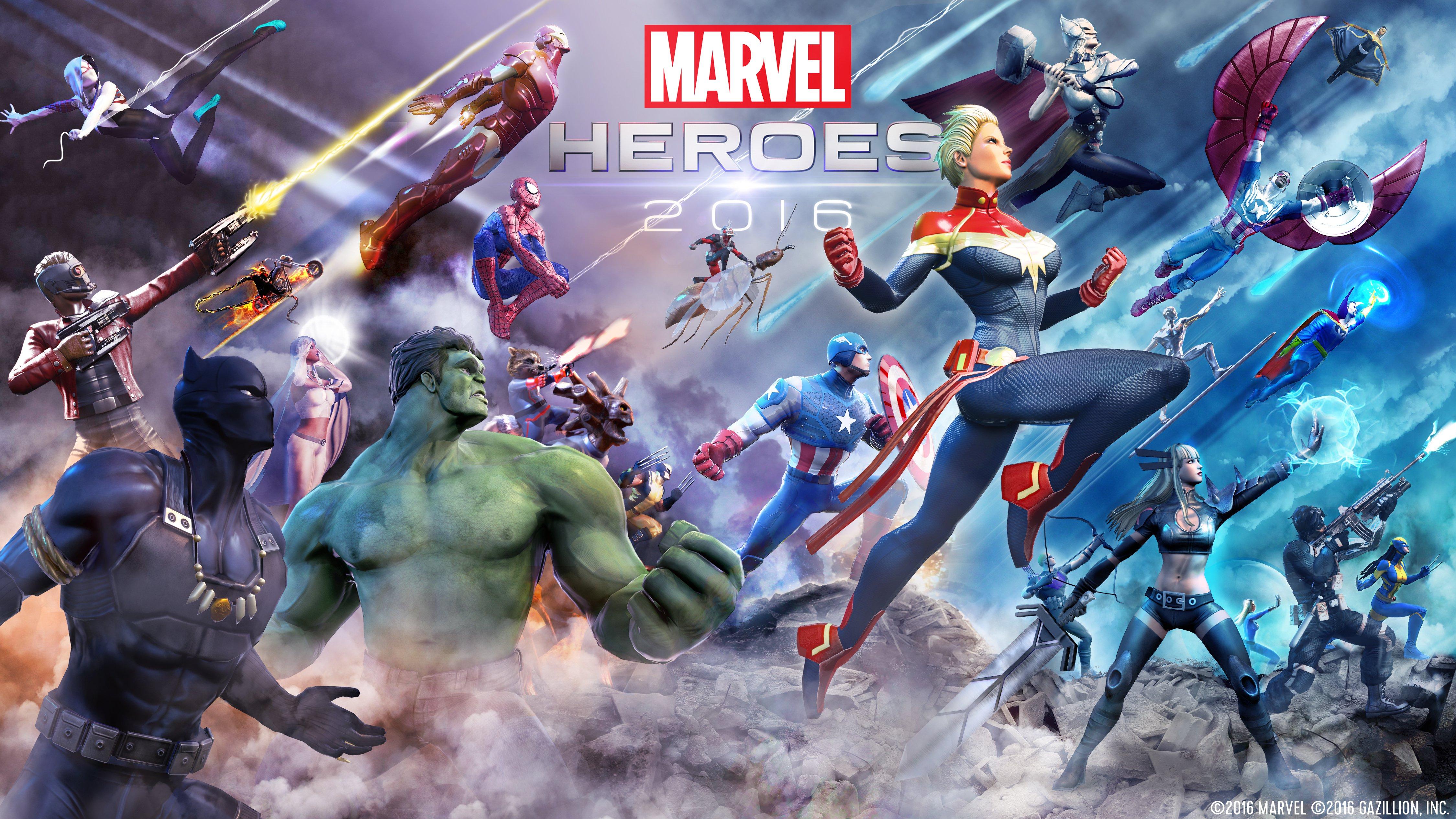 Marvel Heroes 4K Wallpaper