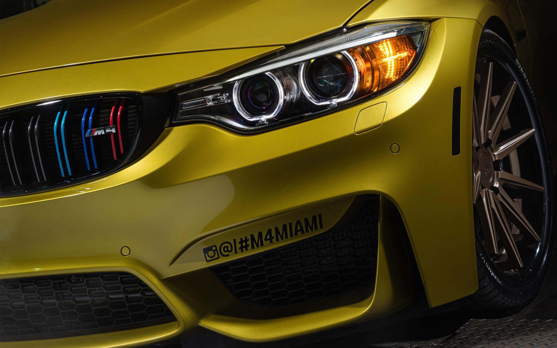 BMW M Austin Yellow 5K HD wallpaper