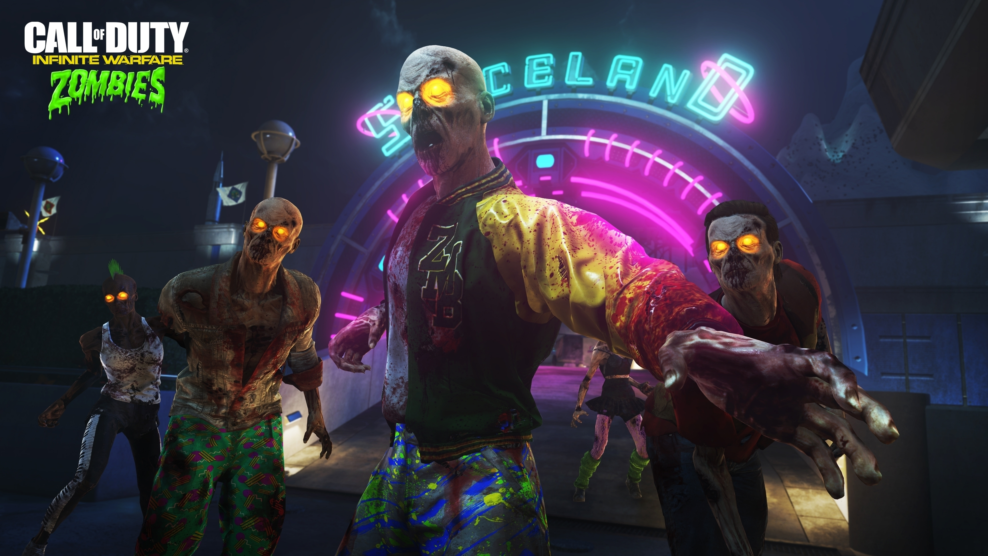 Call of Duty Infinite Warfare Zombies Spaceland wallpaper
